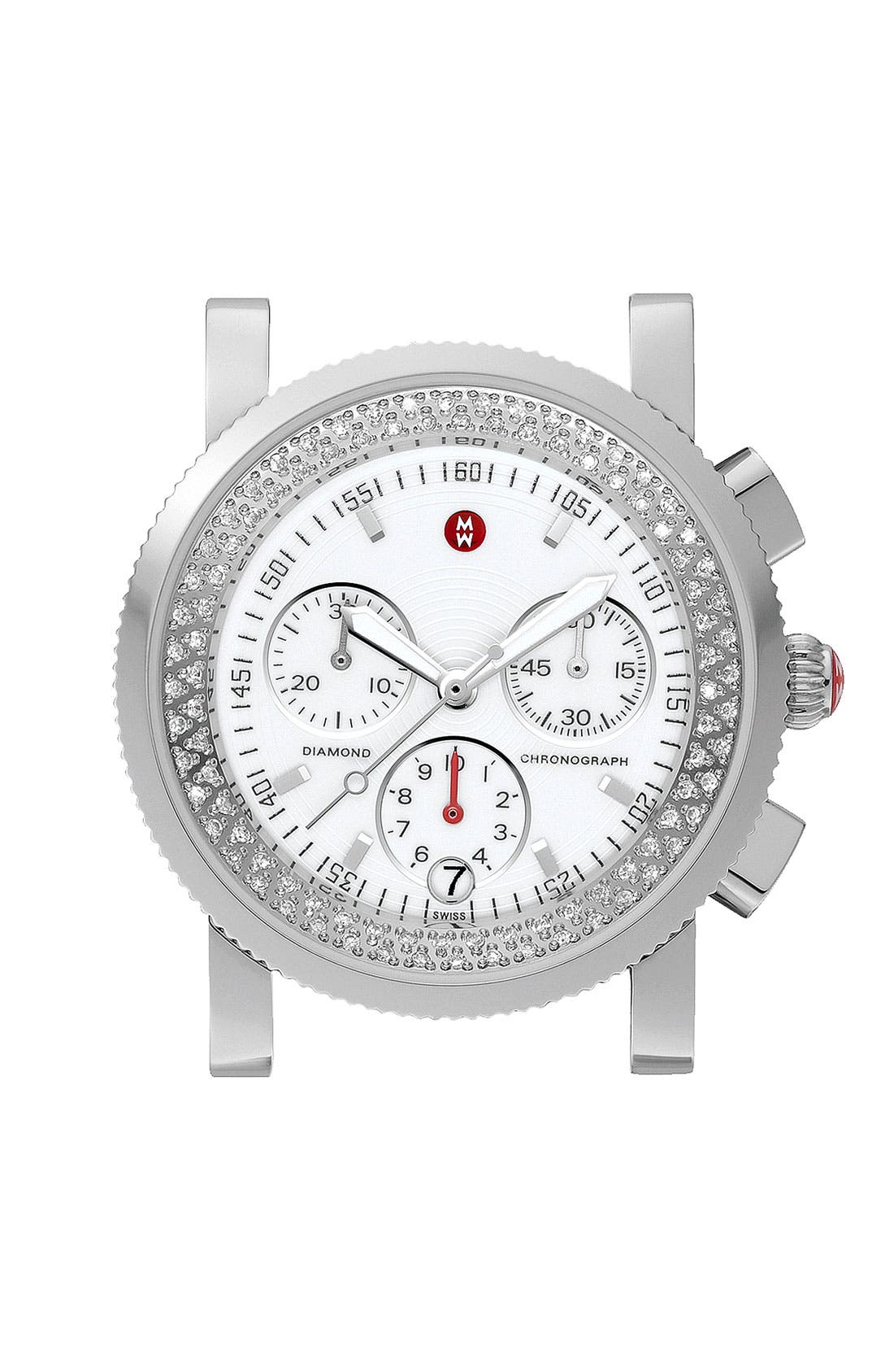 Main Image - MICHELE 'Sport Sail' Diamond Watch Case, 38mm