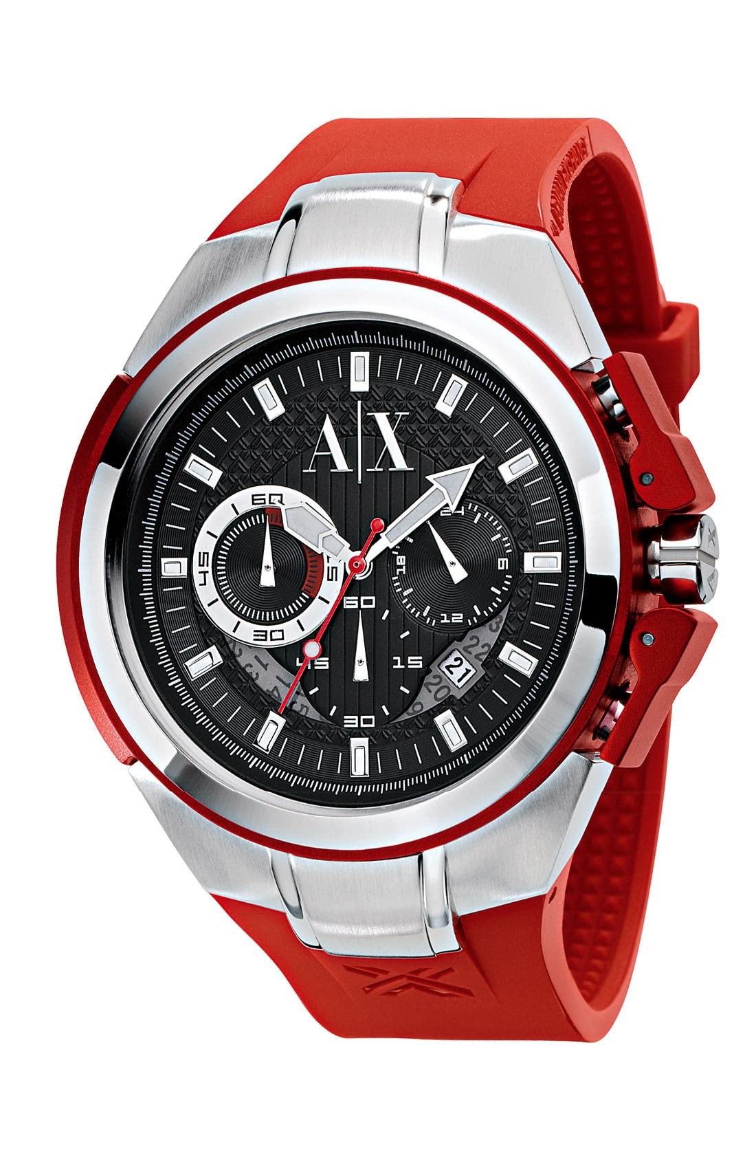 Men's Chronograph Watch, 38mm,                         Main,                         color, Red