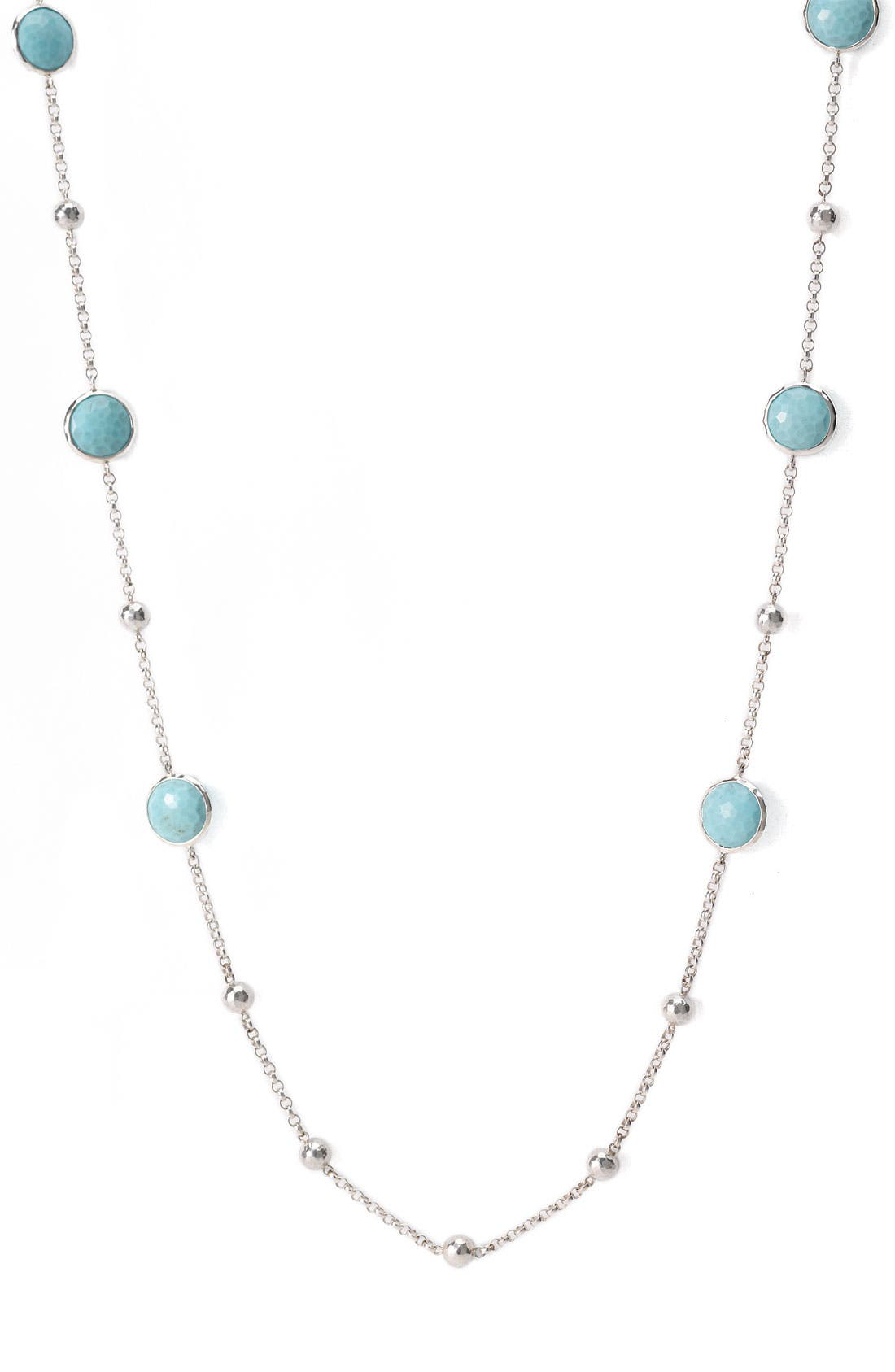 'Rock Candy - Mini Lollipop' Long Necklace,                             Main thumbnail 1, color,                             Silver - Turquoise