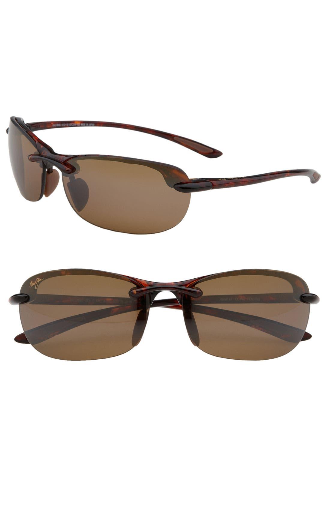 Main Image - Maui Jim Hanalei 64mm PolarizedPlus2® Rimless Sunglasses