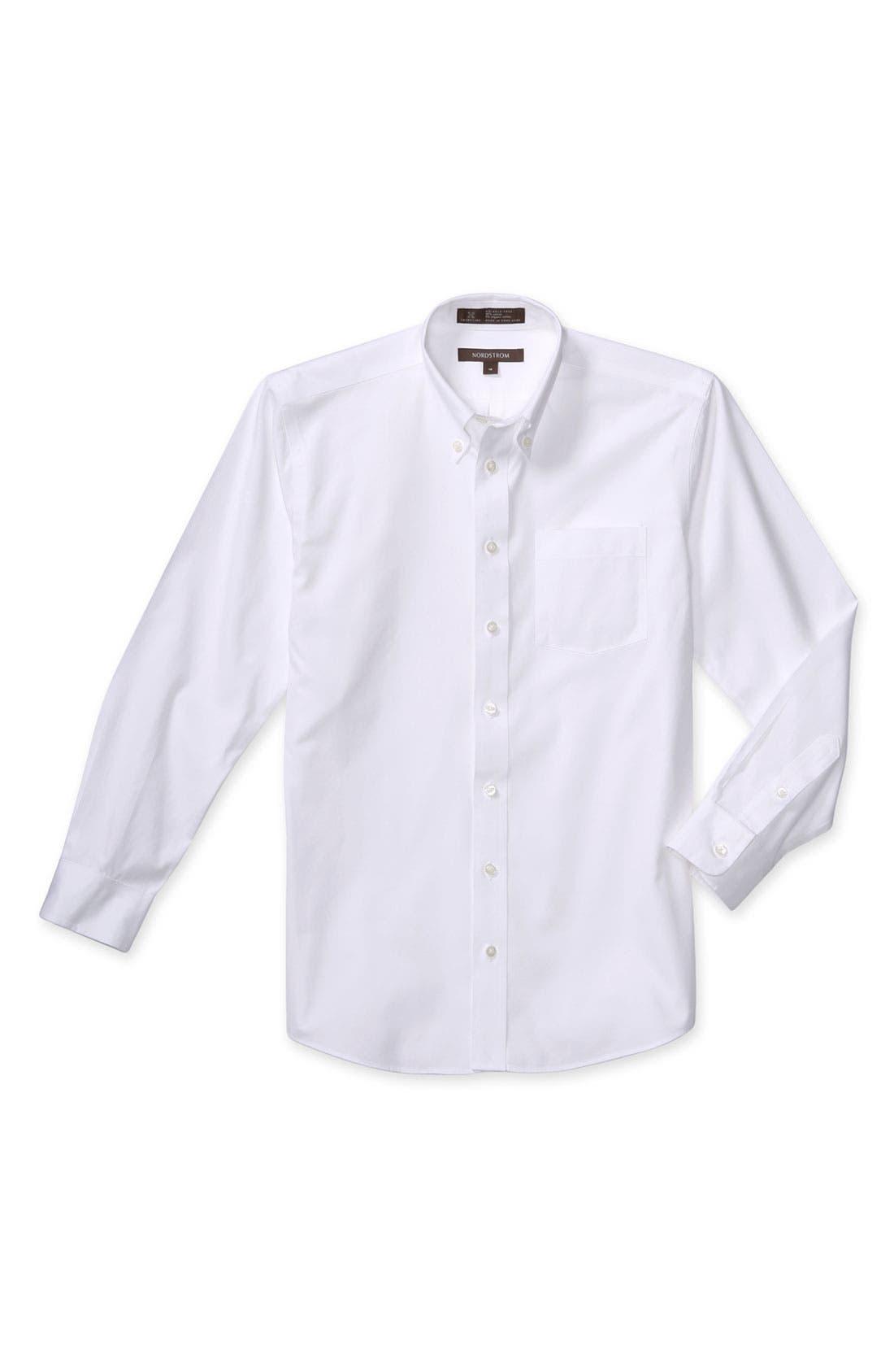 Alternate Image 1 Selected - Nordstrom Smartcare™ Long Sleeve Oxford Shirt (Big Boys)