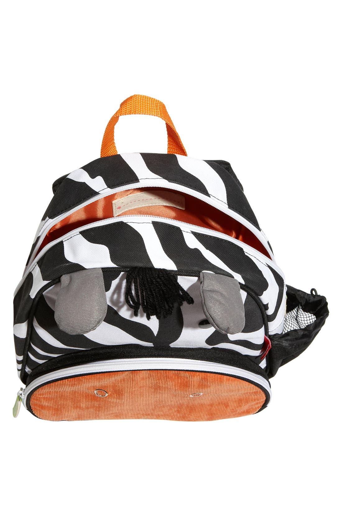 Zoo Pack Backpack,                             Alternate thumbnail 3, color,                             White/ Black