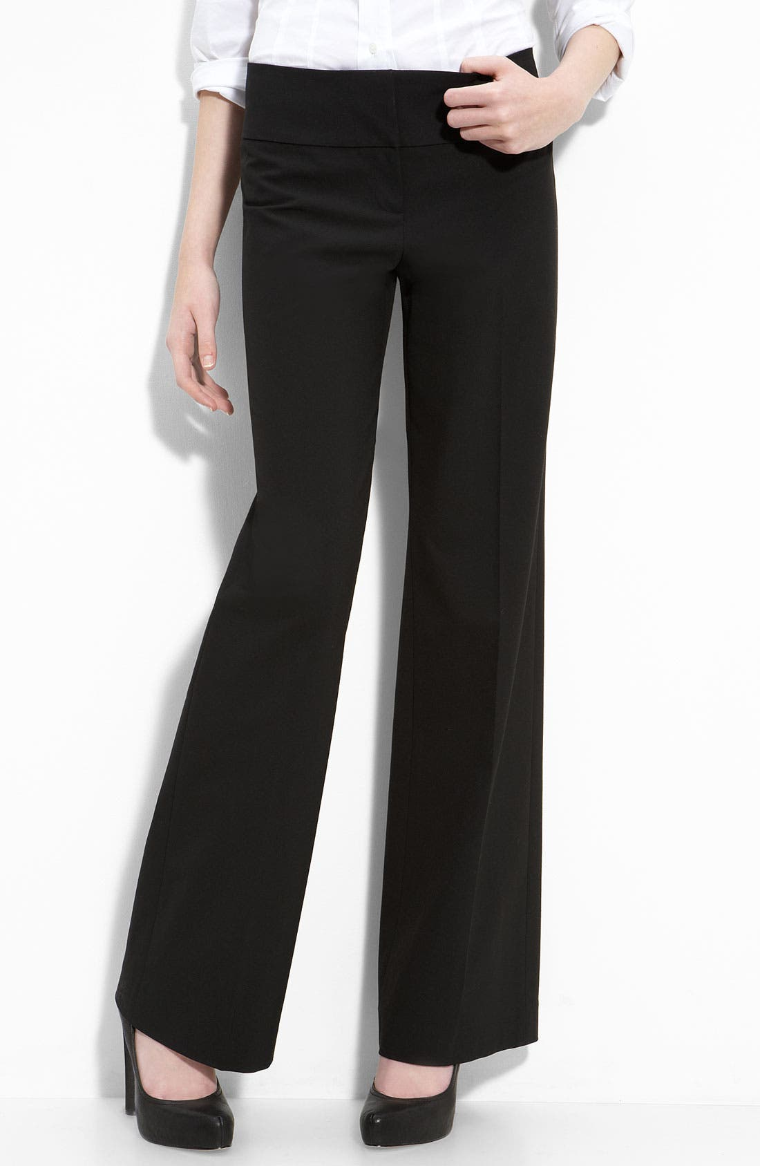 Alternate Image 1 Selected - Halogen® 'Taylor' Curvy Fit Trousers