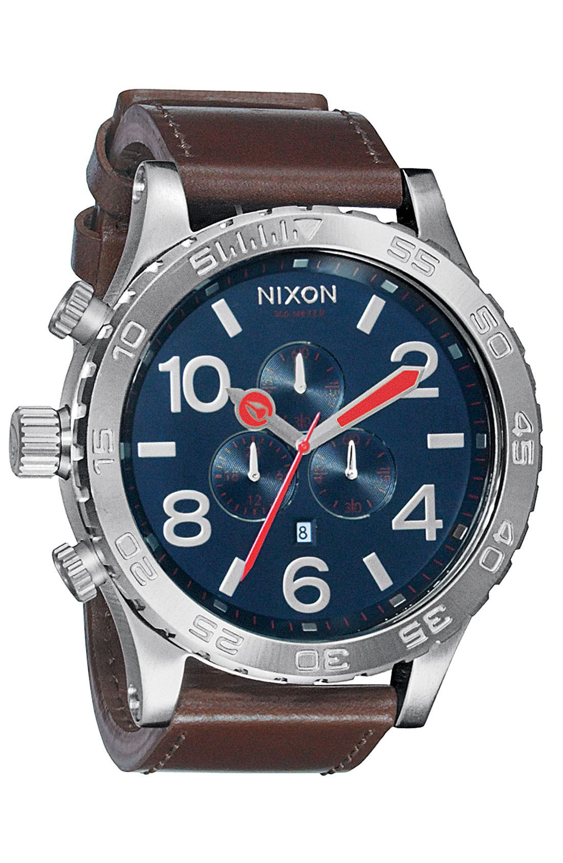 Alternate Image 1 Selected - Nixon 'The 51-30 Chrono' Leather Watch