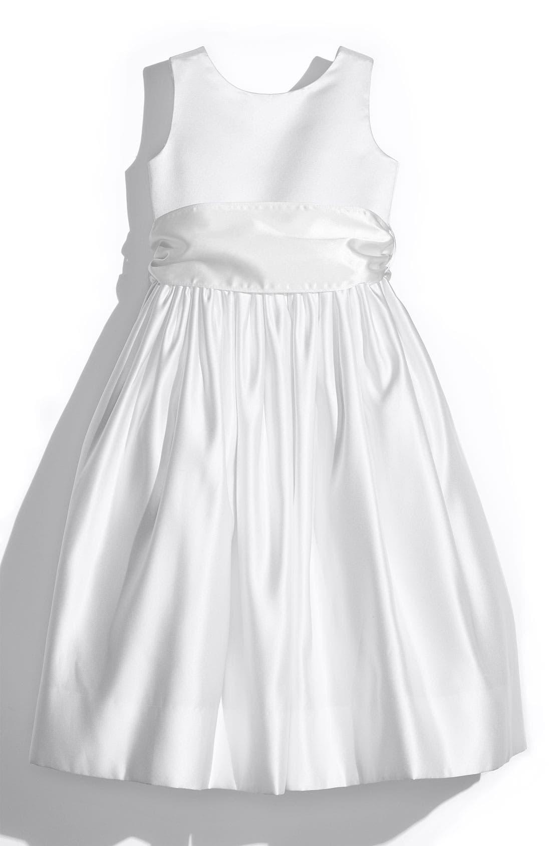 Us Angels White Tank Dress with Satin Sash (Toddler, Little Girls & Big Girls)
