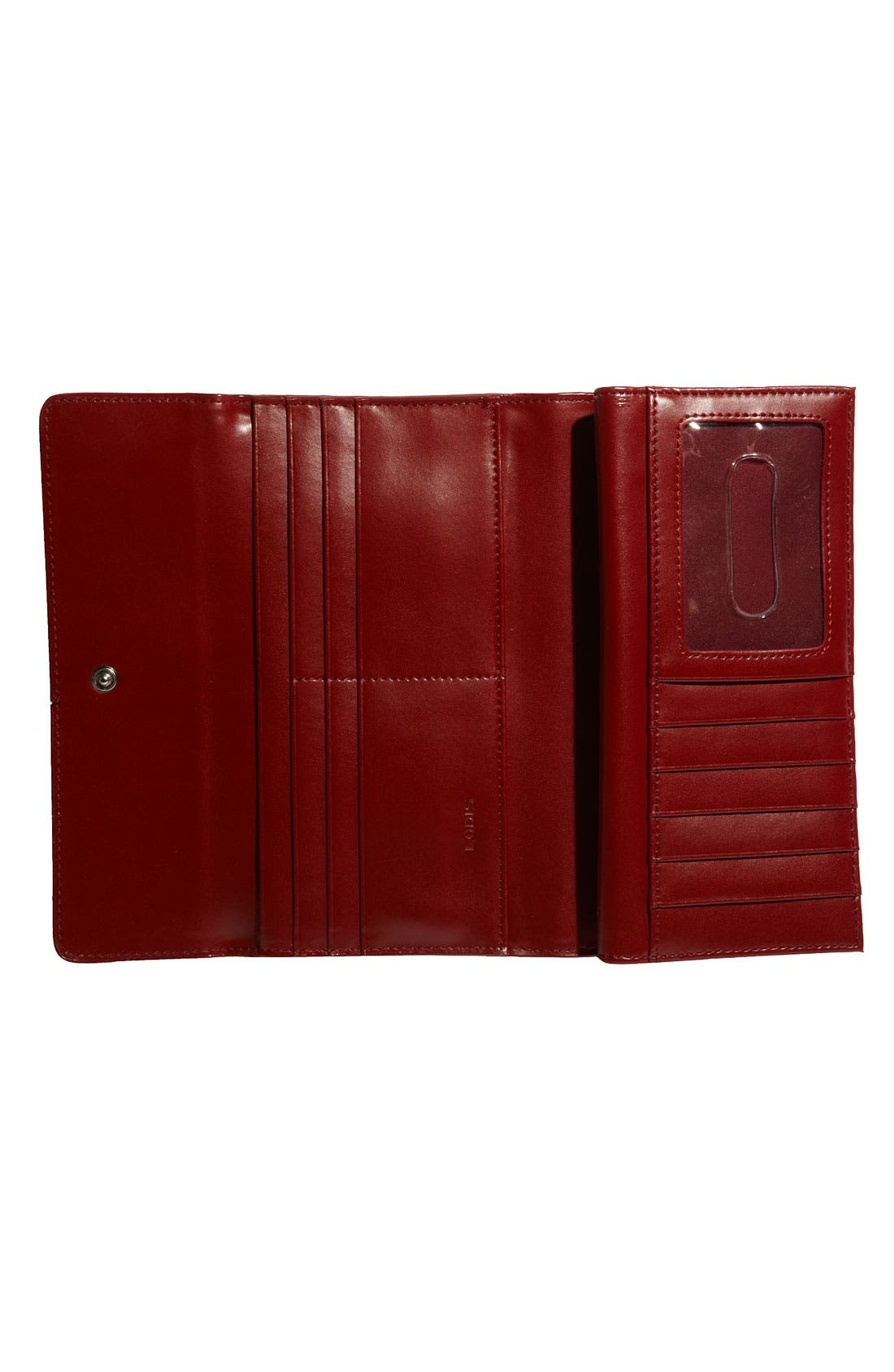 Lodis 'Audrey' Checkbook Clutch Wallet,                             Alternate thumbnail 3, color,                             Teal/ Merlot