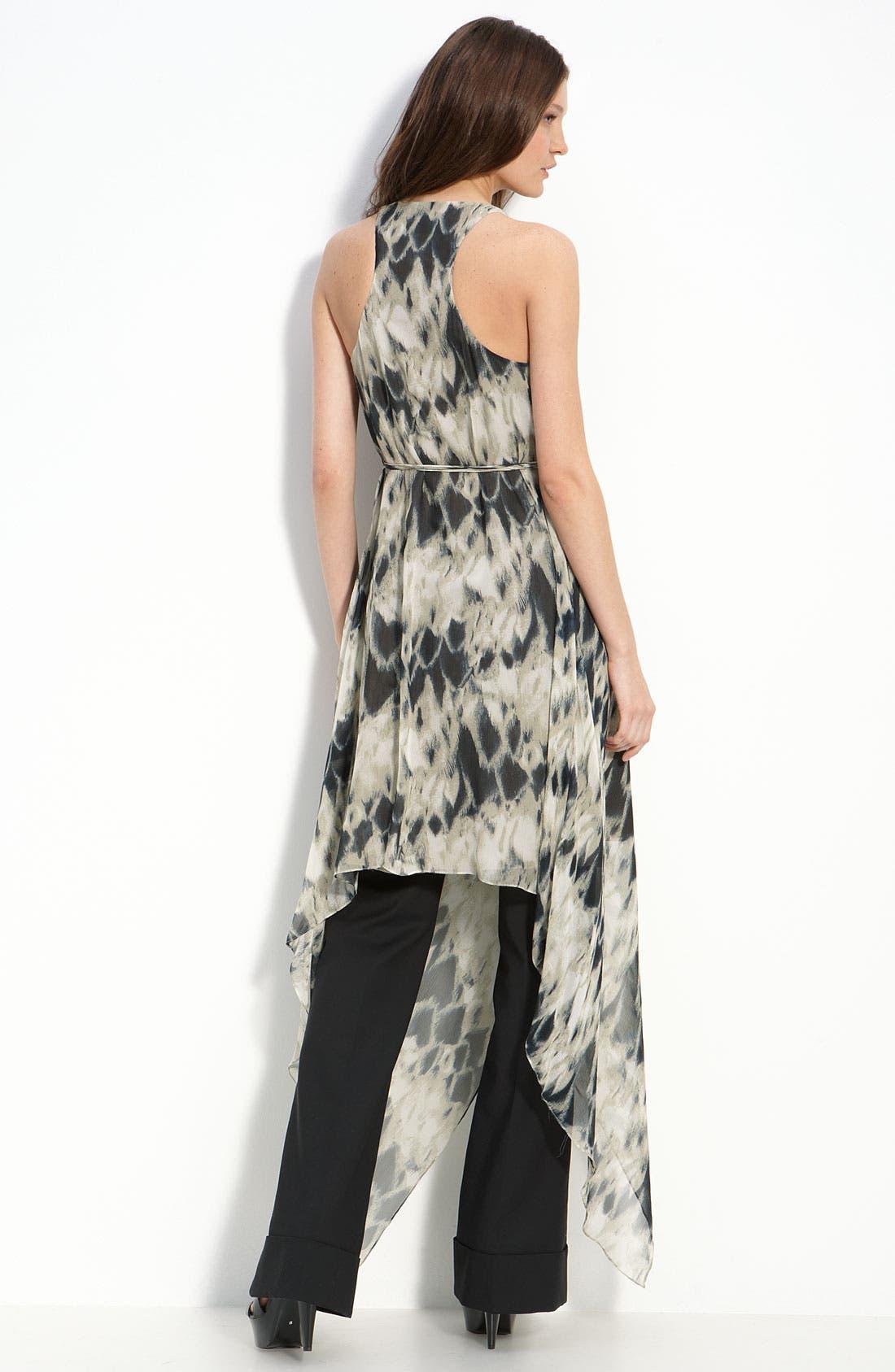 Alternate Image 2  - Robert Rodriguez Racerback Silk Dress