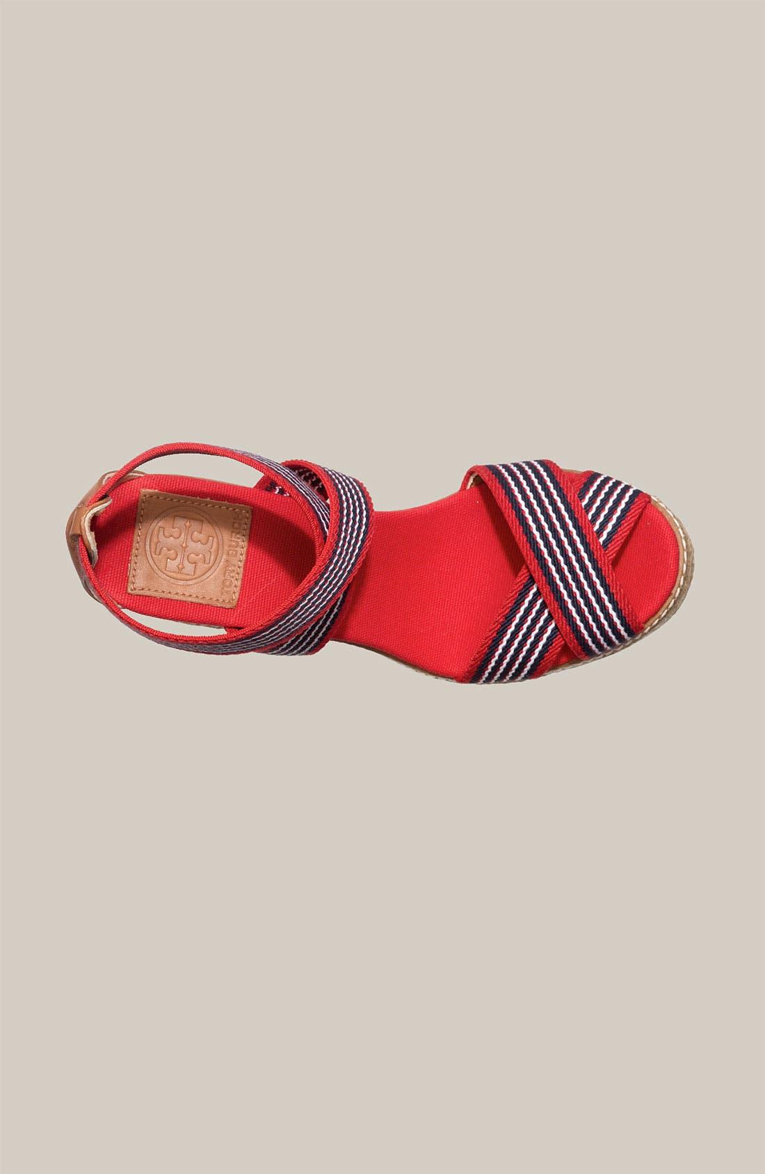 Alternate Image 3  - Tory Burch Stripe Elastic Strap Espadrille