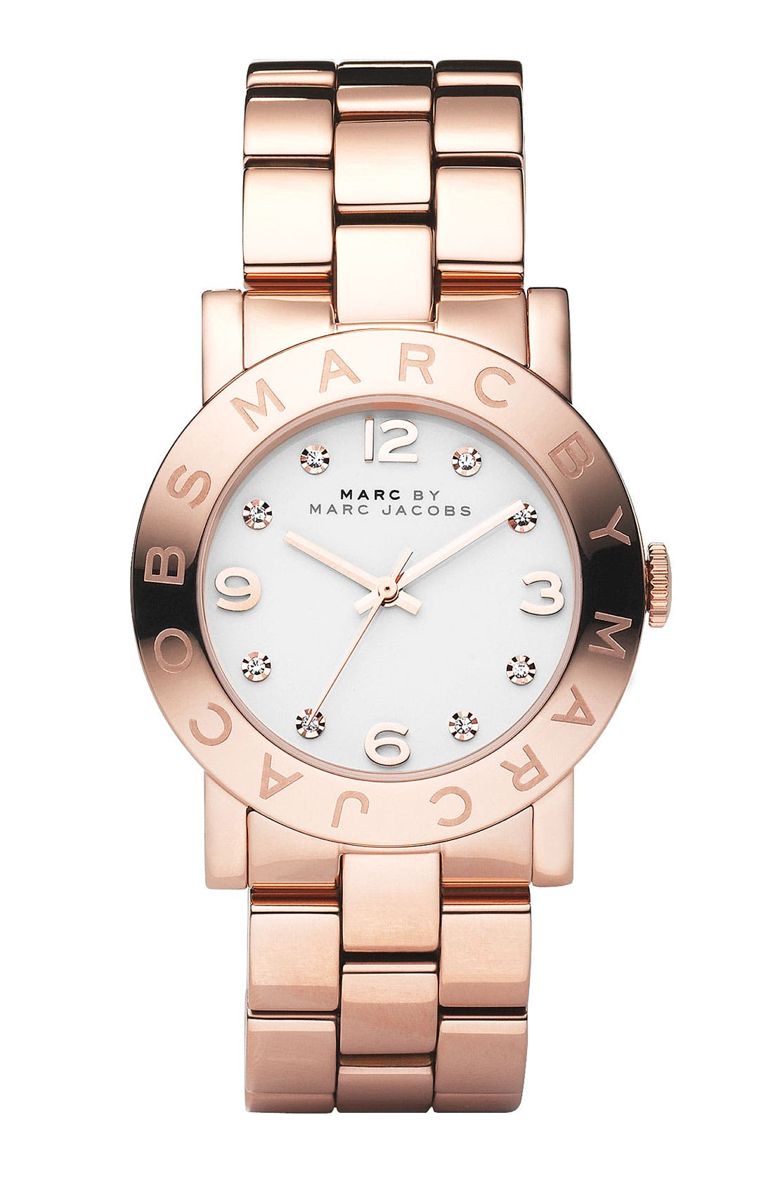 Main Image - MARC JACOBS 'Amy' Crystal Bracelet Watch, 36mm