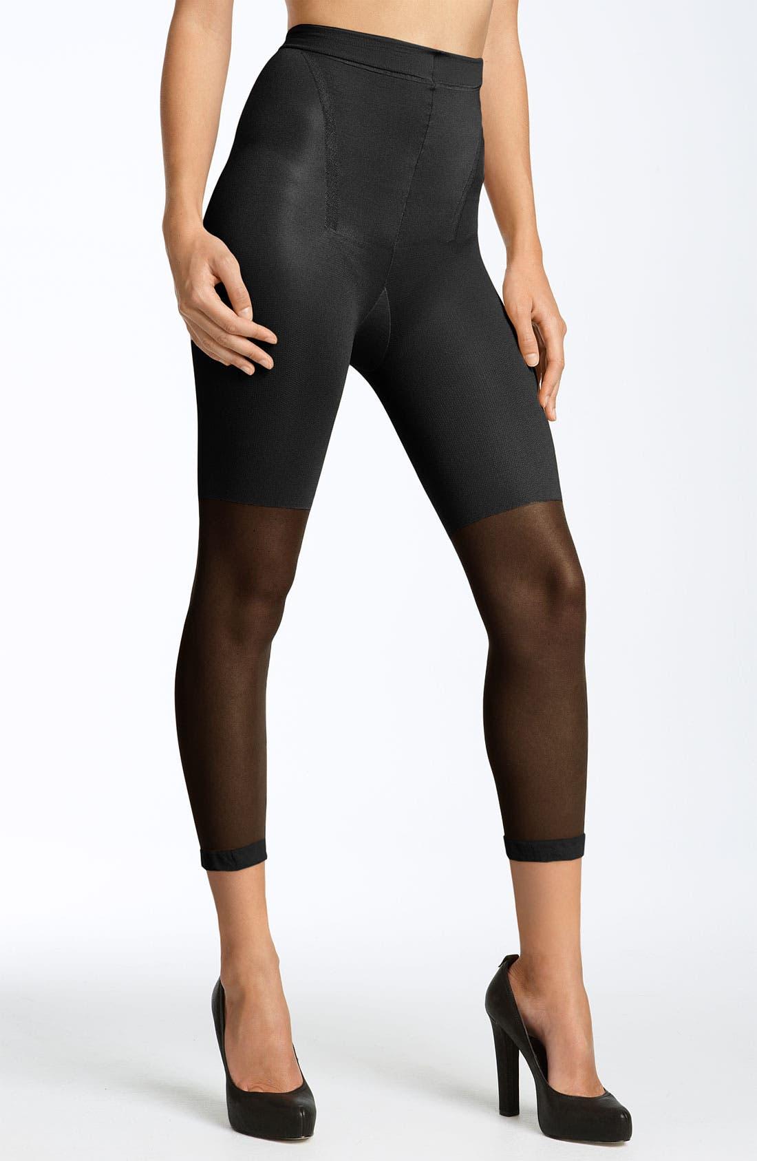 SPANX® Power Capri Control Top Footless Pantyhose (Regular & Plus Size)