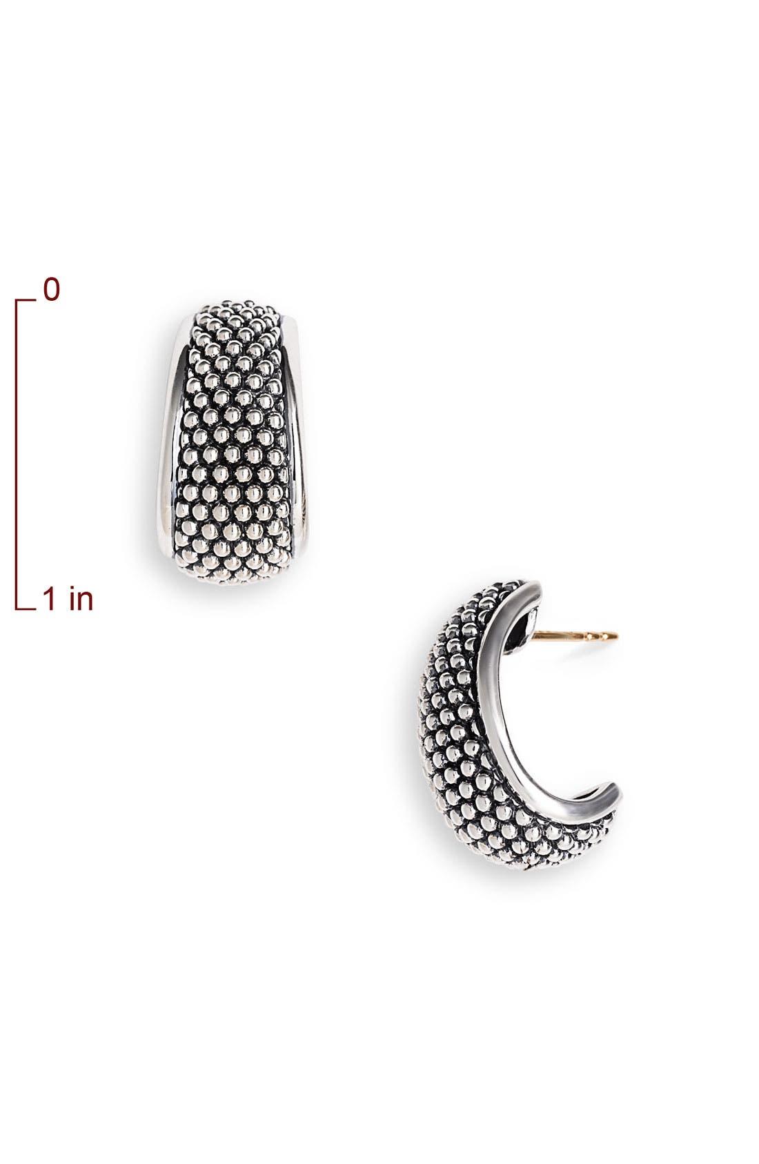 Alternate Image 2  - LAGOS 'Signature' Half Hoop Earrings