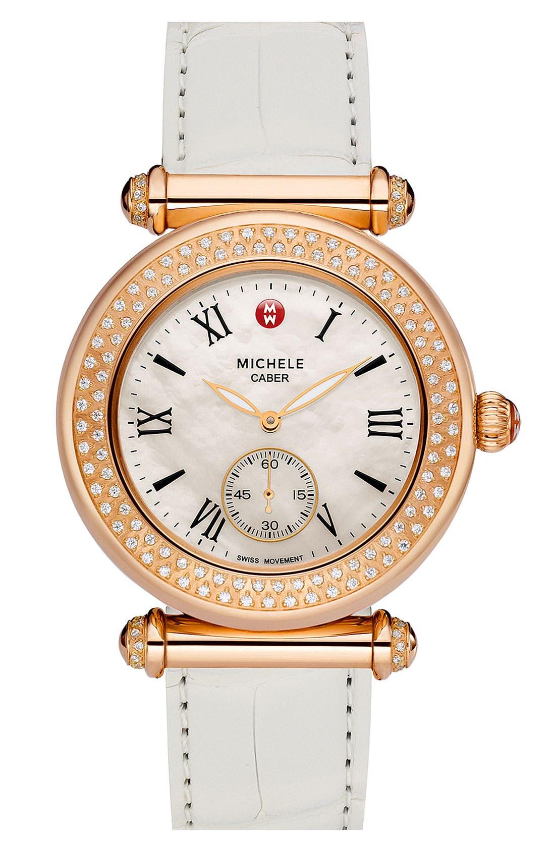 Alternate Image 3  - MICHELE 'Caber' Diamond Rose Gold Watch Case, 38mm