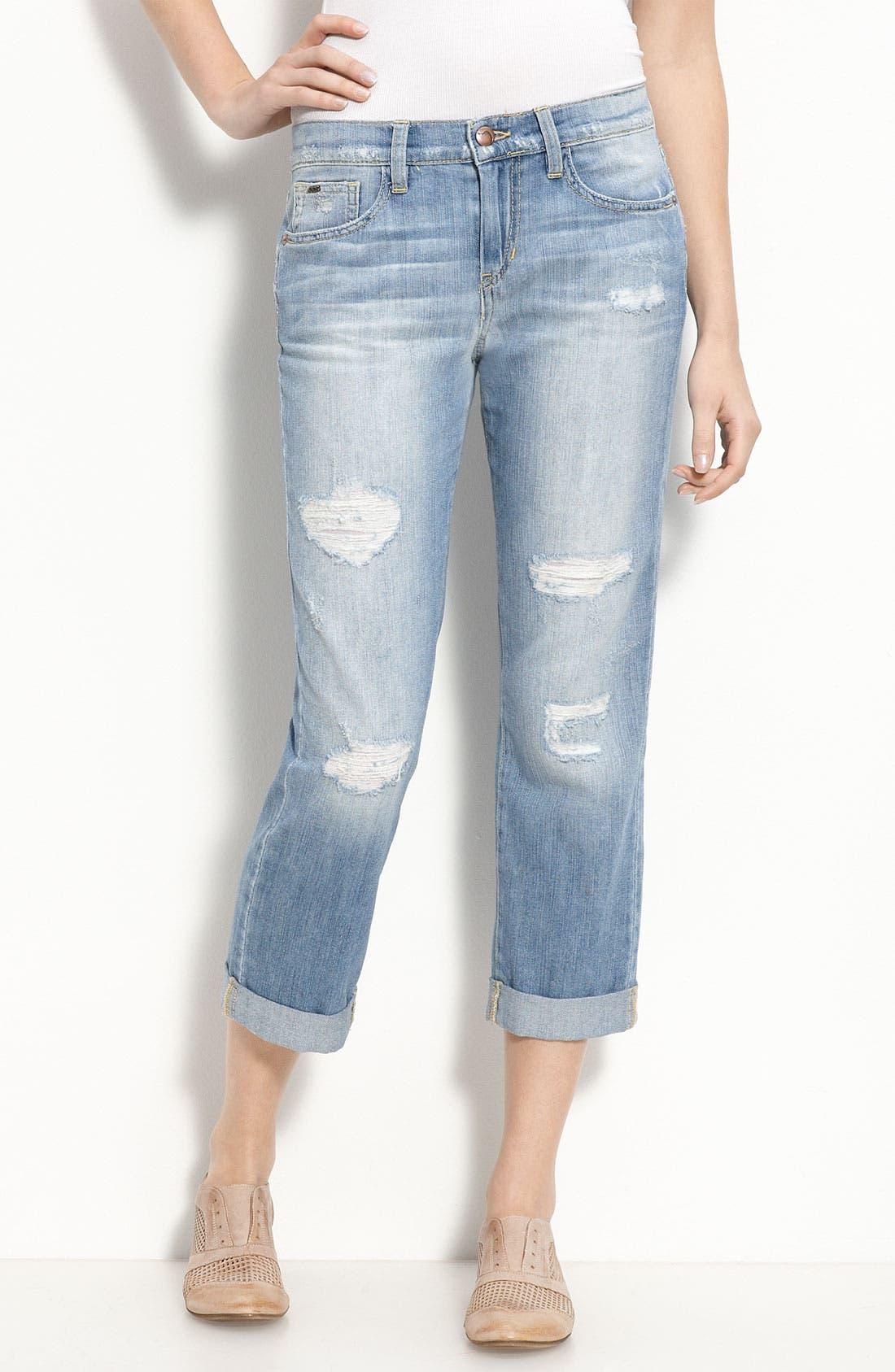 Alternate Image 1 Selected - Joe's 'Boyfriend Kicker' Crop Jeans (Patricia Wash)
