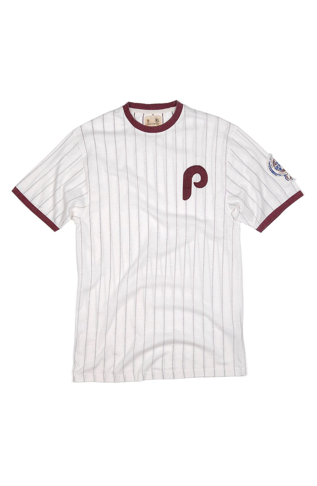 Alternate Image 1 Selected - Red Jacket 'Philadelphia Phillies' Trim Fit Ringer T-Shirt (Men)