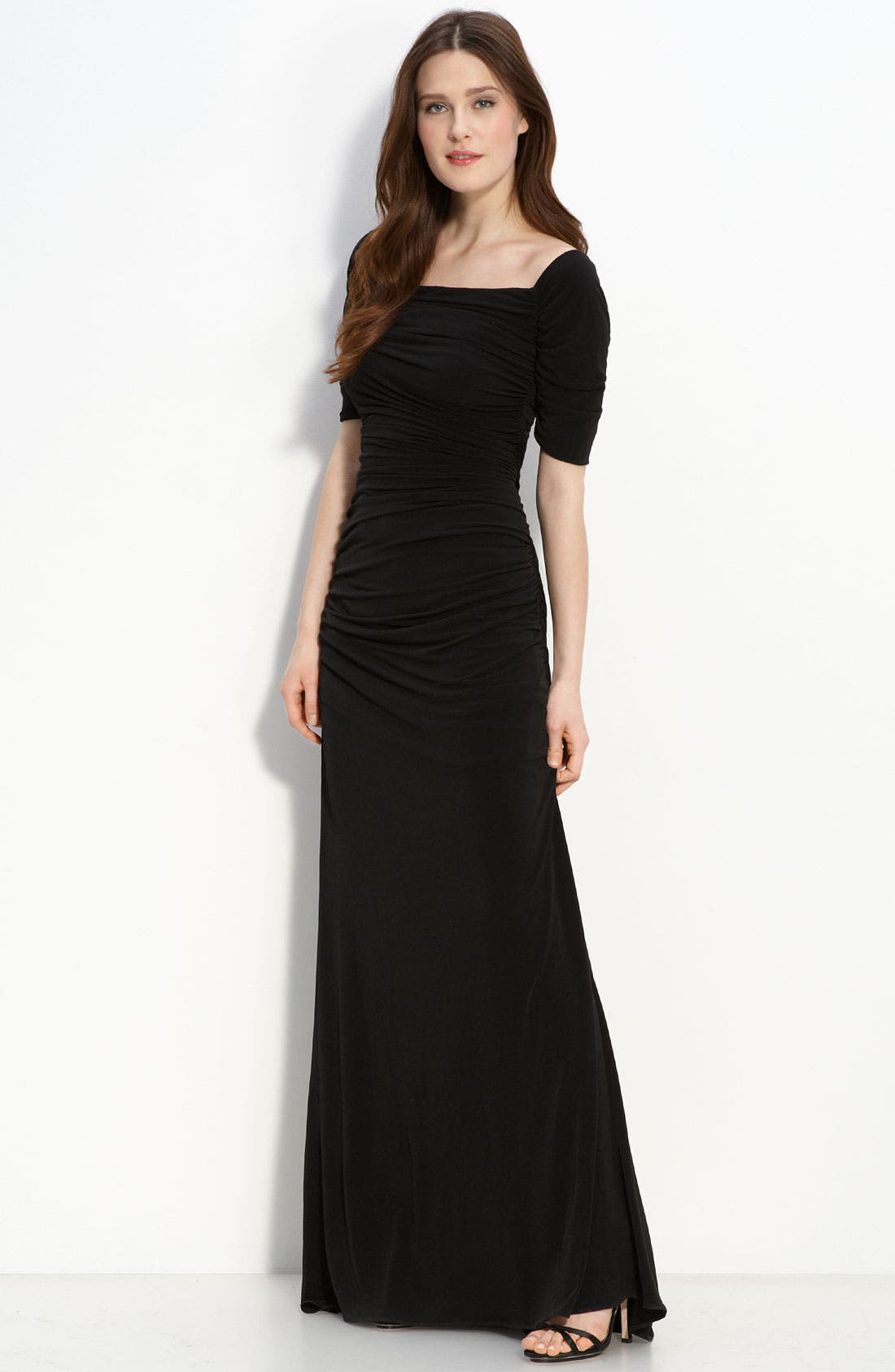 Alternate Image 1 Selected - Calvin Klein Ruched Jersey Dress