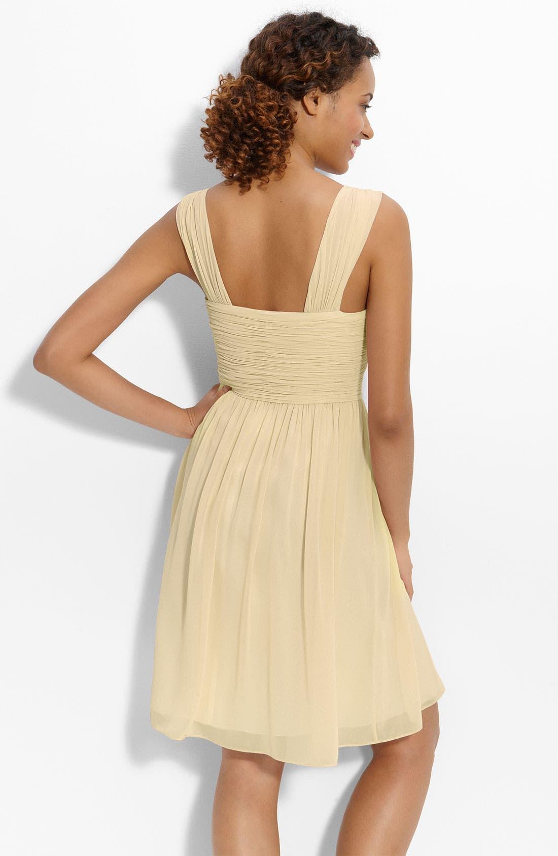 Alternate Image 2  - Donna Morgan 'Jackie' Ruched Chiffon Dress