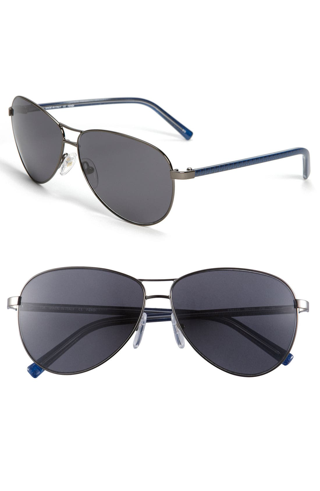 Alternate Image 1 Selected - Fendi Polarized Aviator Sunglasses