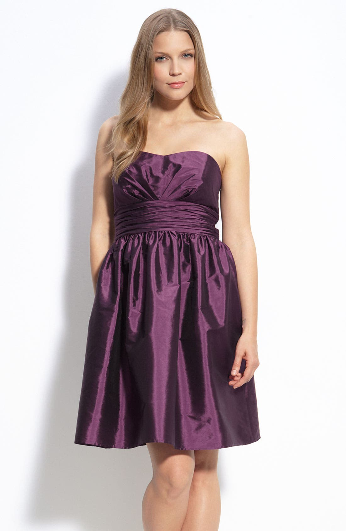 Alternate Image 1 Selected - Eliza J Strapless Taffeta Dress
