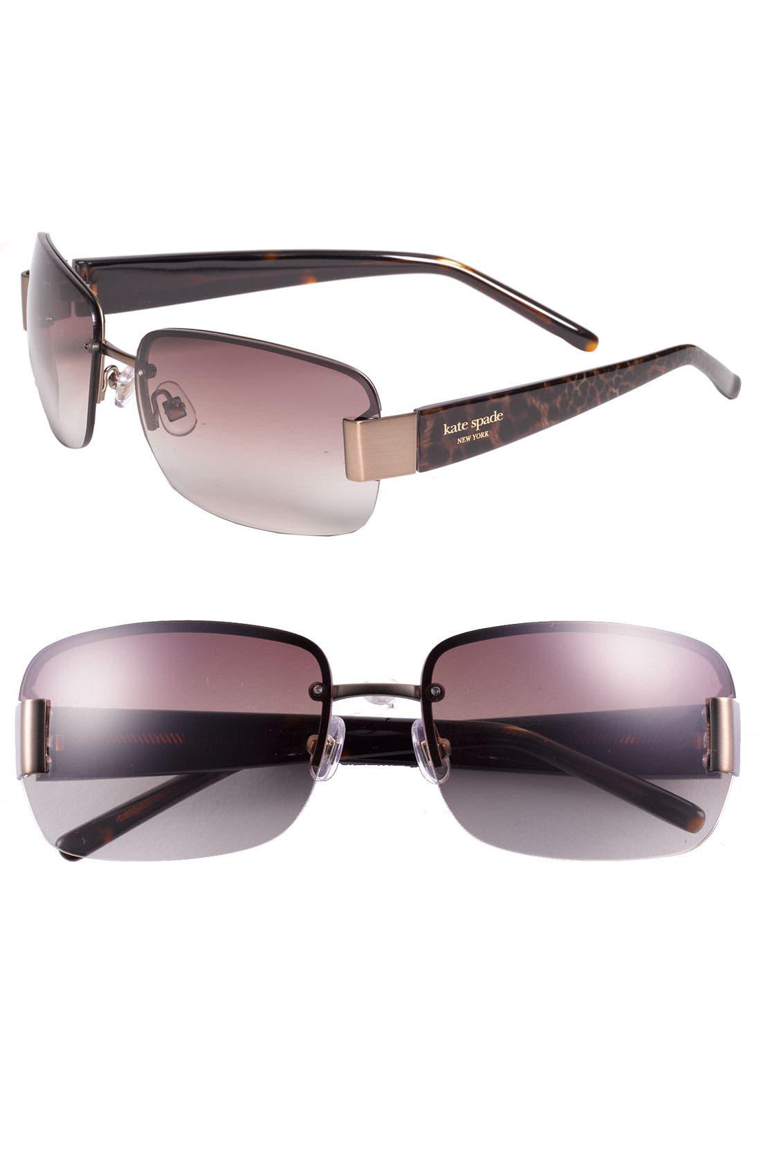 Main Image - kate spade new york 'nia' 60mm rimless rectangular sunglasses