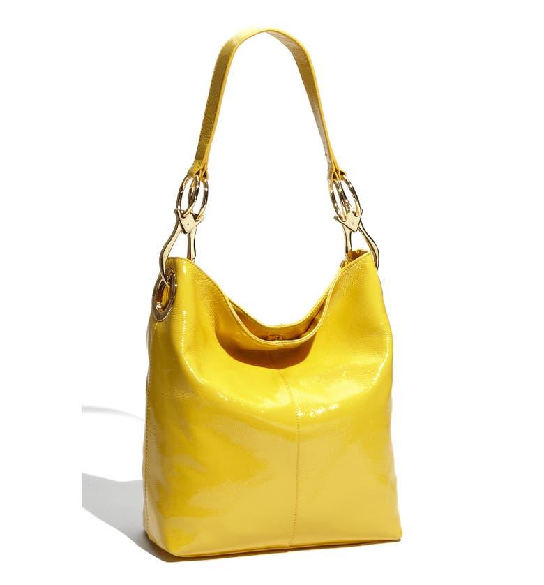 Betty Patent Bucket Bag
