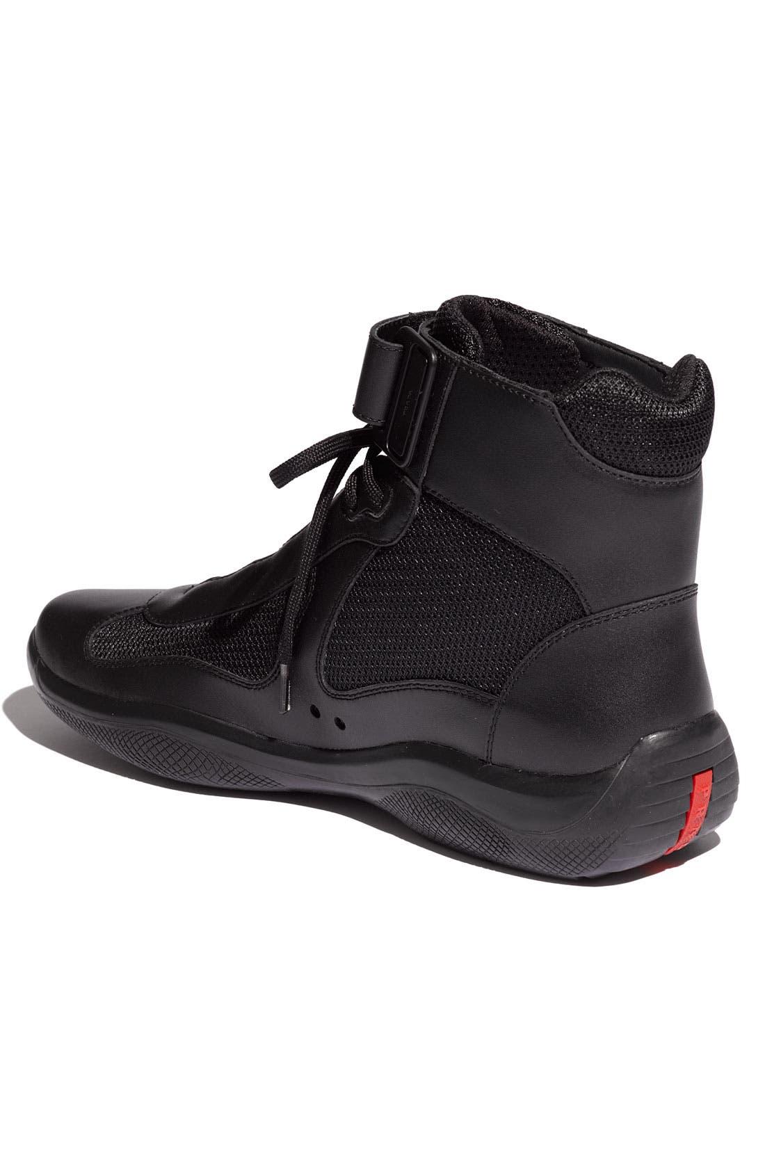 Alternate Image 2  - Prada 'America's Cup' High Top Sneaker (Men)