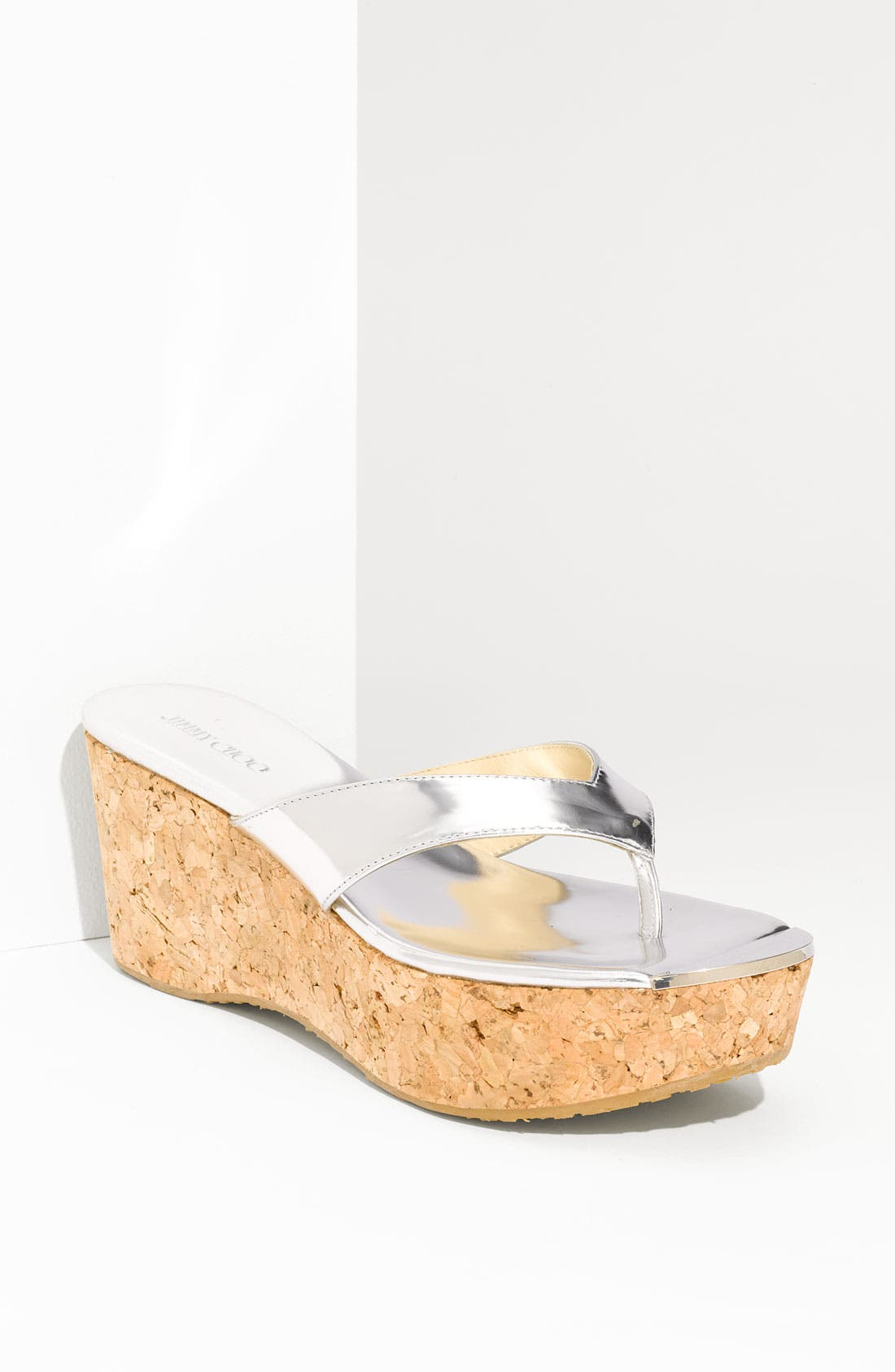 Main Image - Jimmy Choo 'Pathos Pat' Cork Wedge Sandal