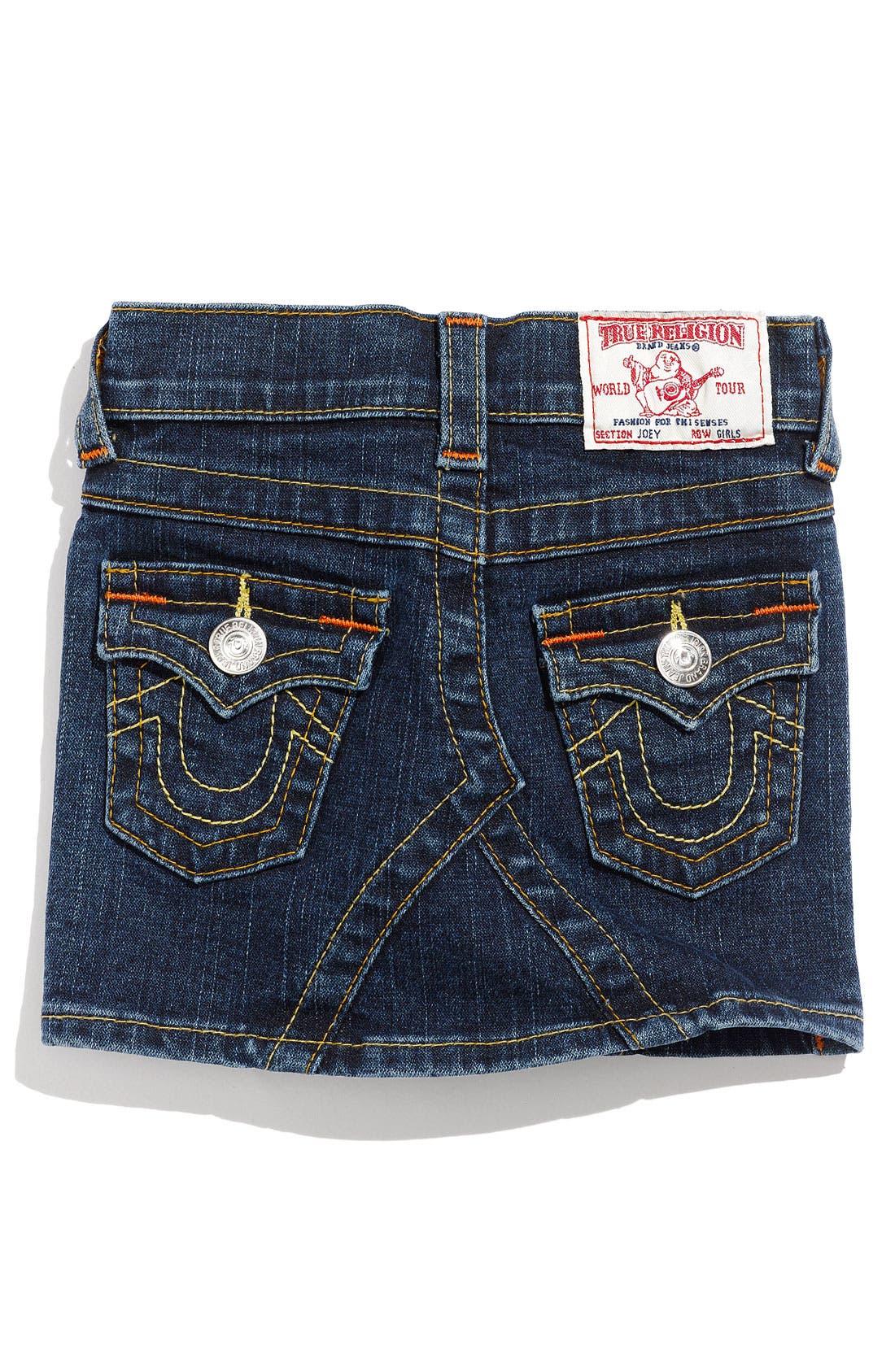 Alternate Image 1 Selected - True Religion Brand Jeans 'Joey' Skirt (Toddler)
