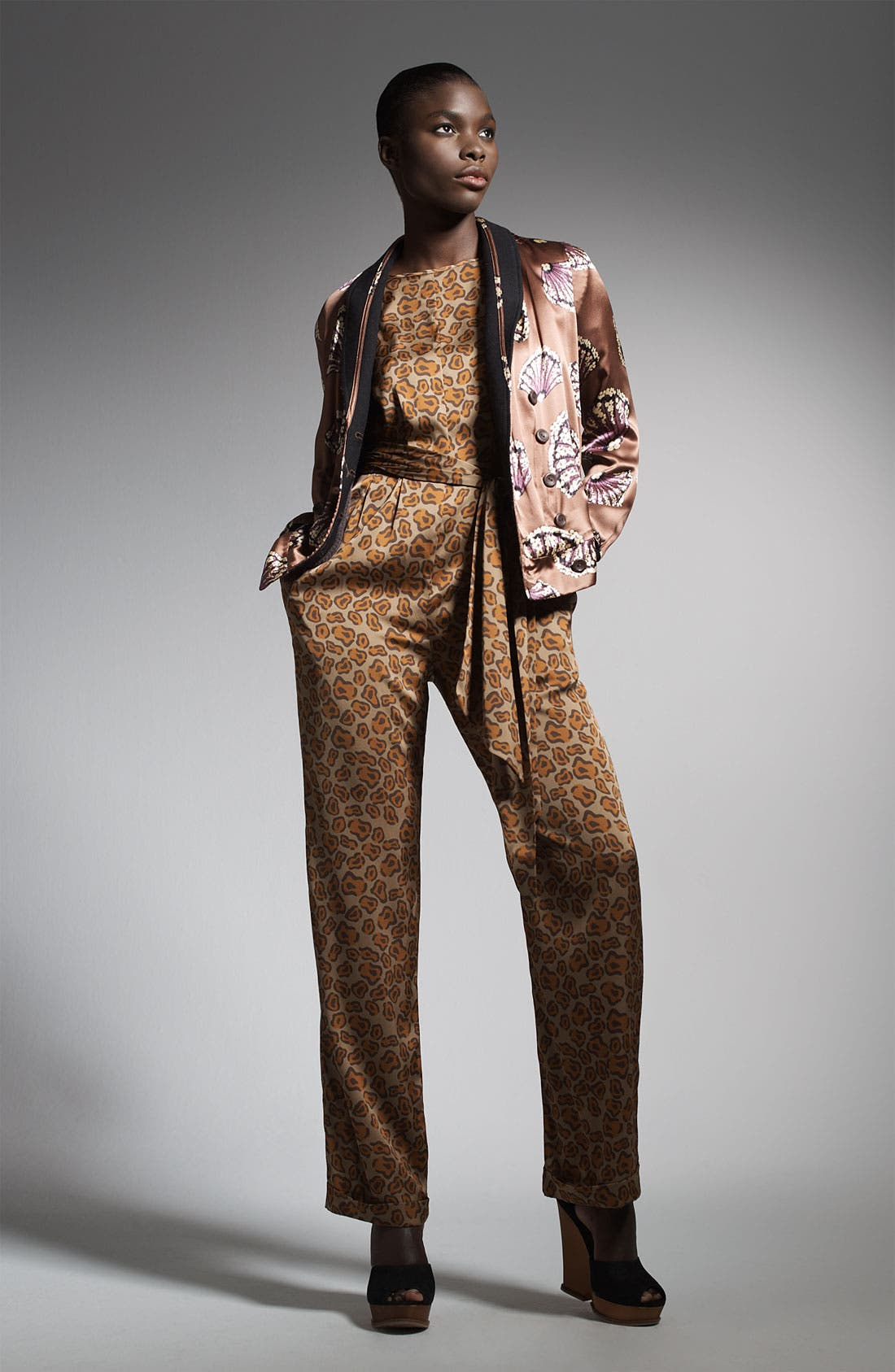 Alternate Image 3  - Tucker Scoop Back Silk Jumpsuit