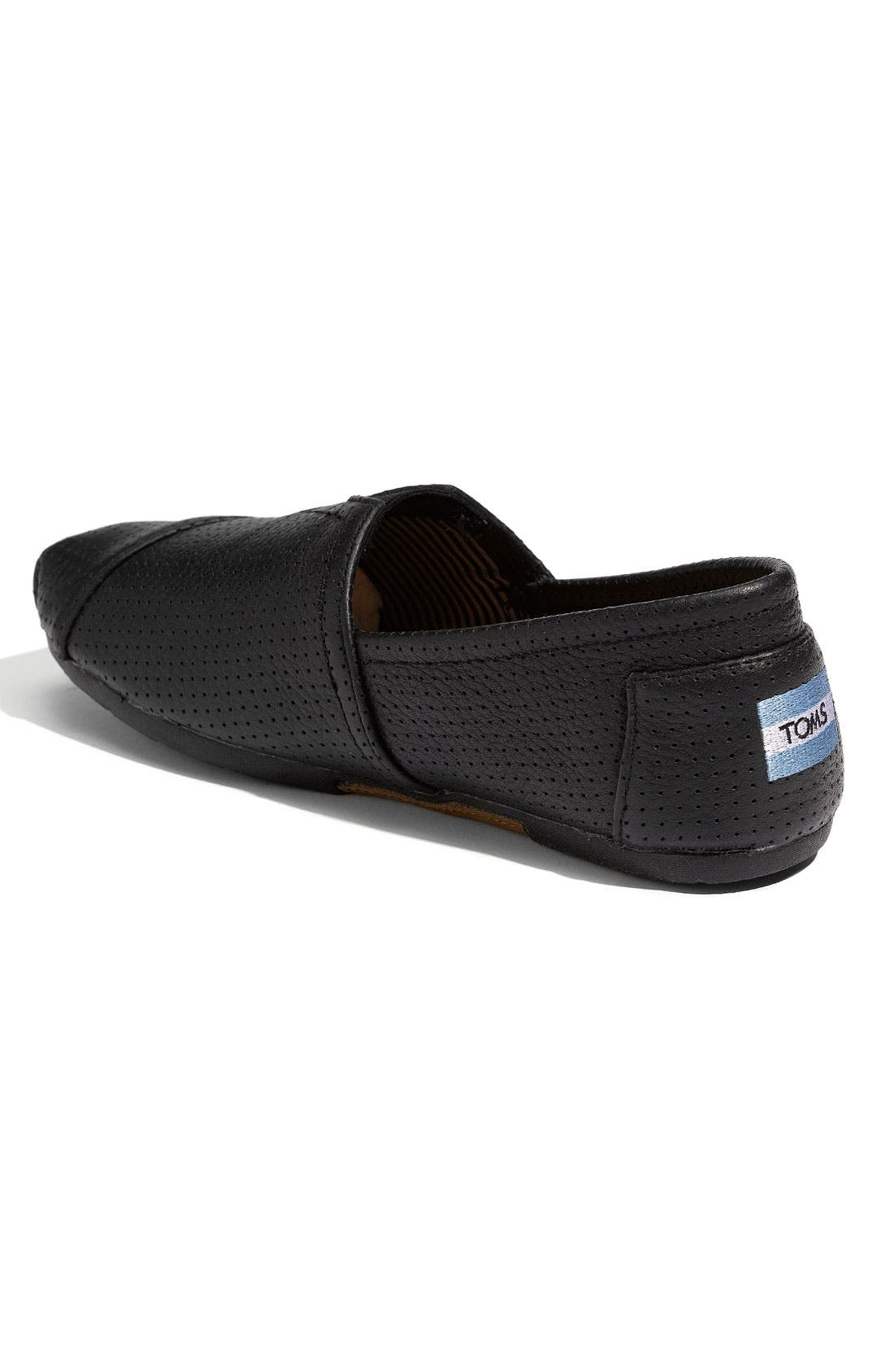 Alternate Image 2  - TOMS Perforated Leather Slip-On (Men)