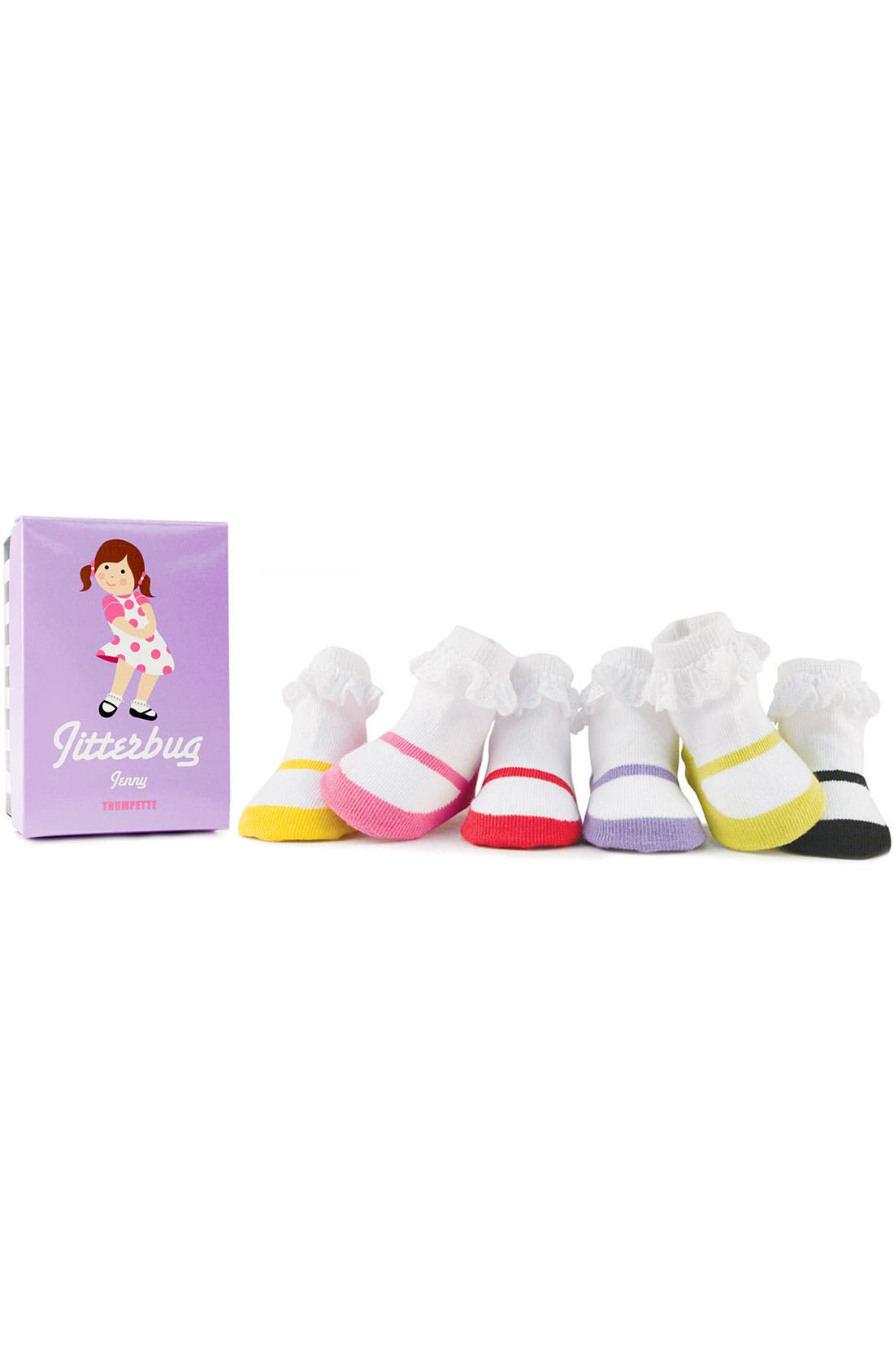Alternate Image 1 Selected - Trumpette 'Jitterbug' Socks (6-Pack) (Infant)