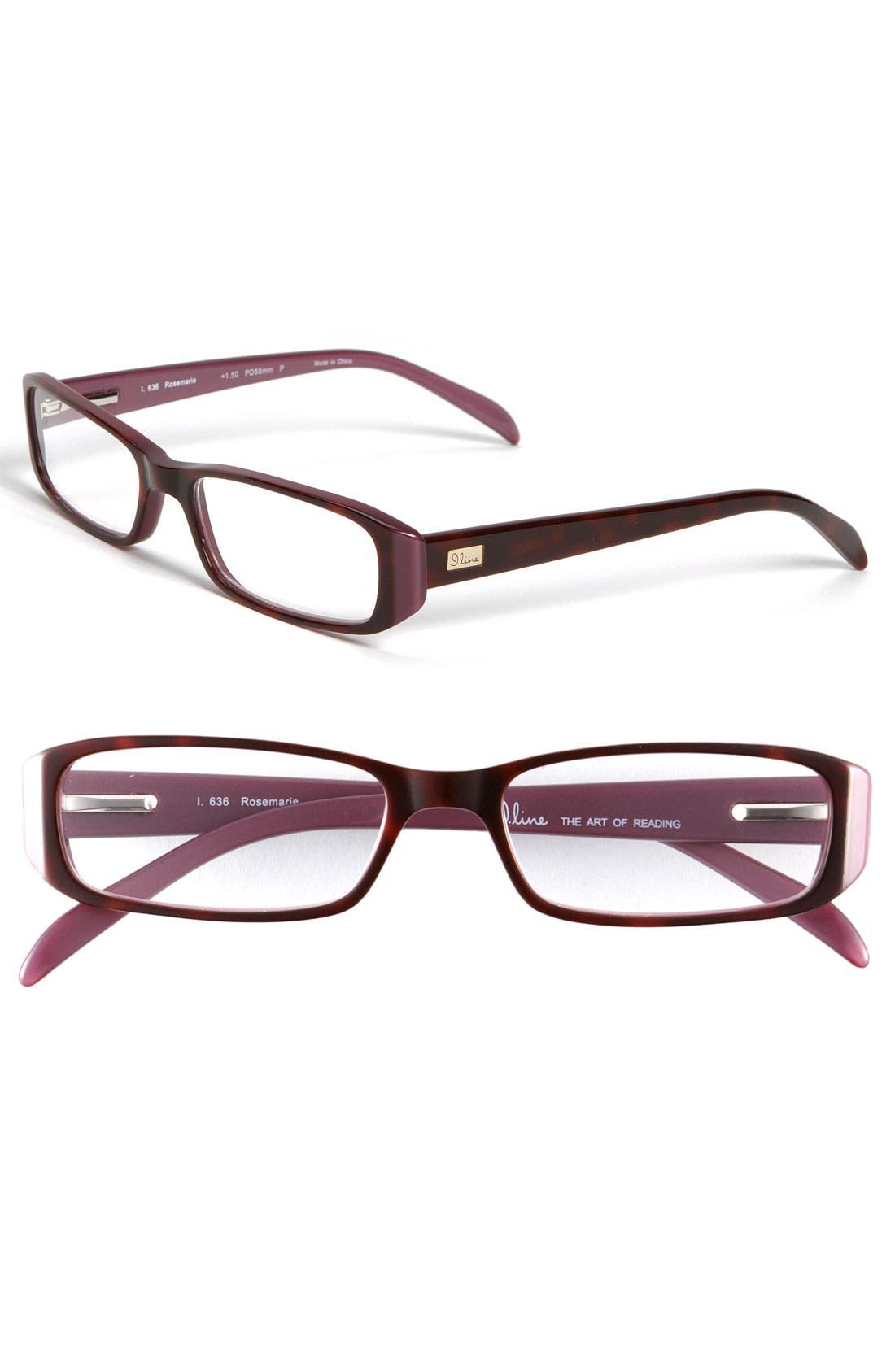 Alternate Image 1 Selected - I Line Eyewear 'Rosemarie' Reading Glasses