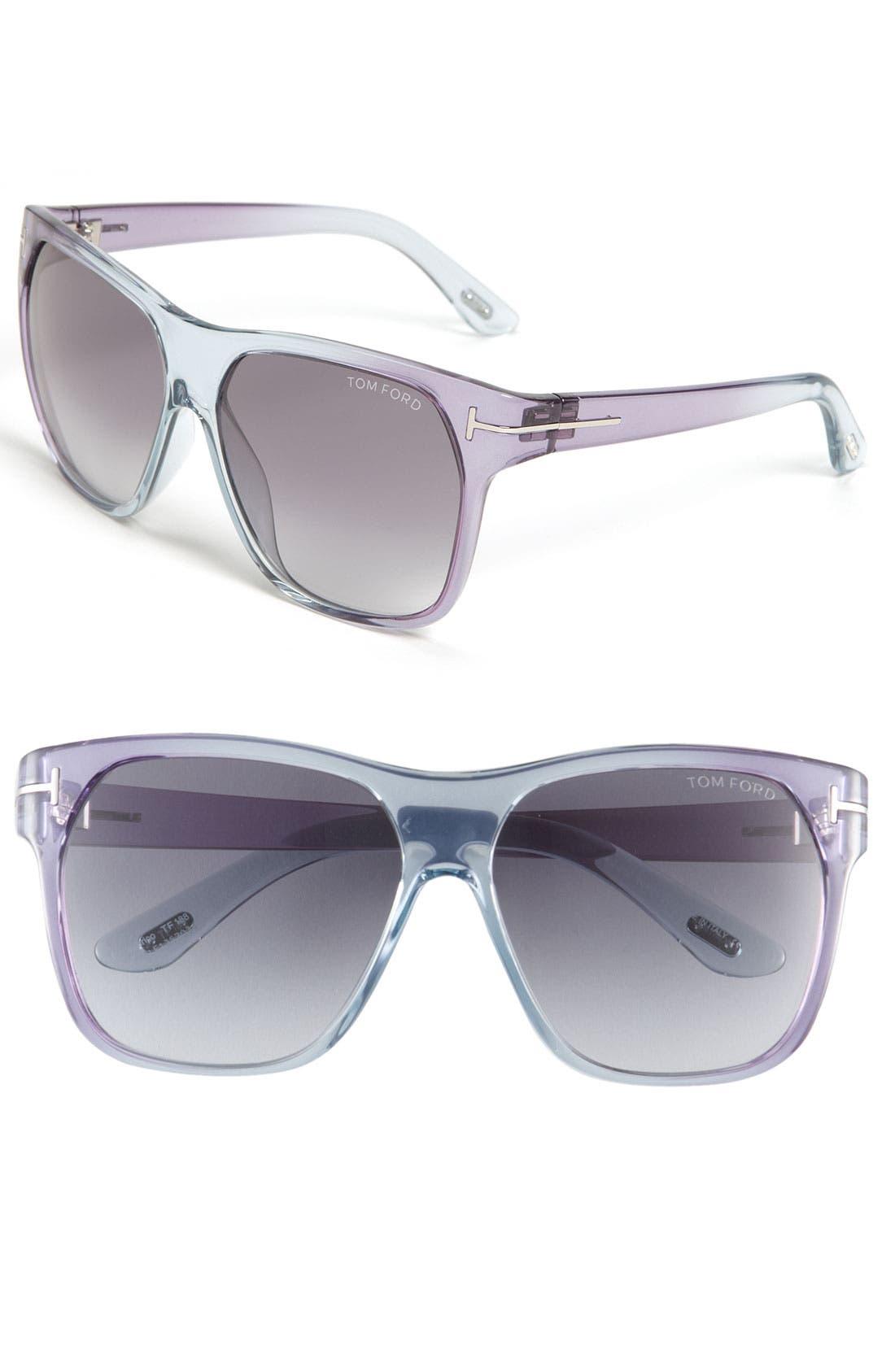 Main Image - Tom Ford Oversized Retro Sunglasses