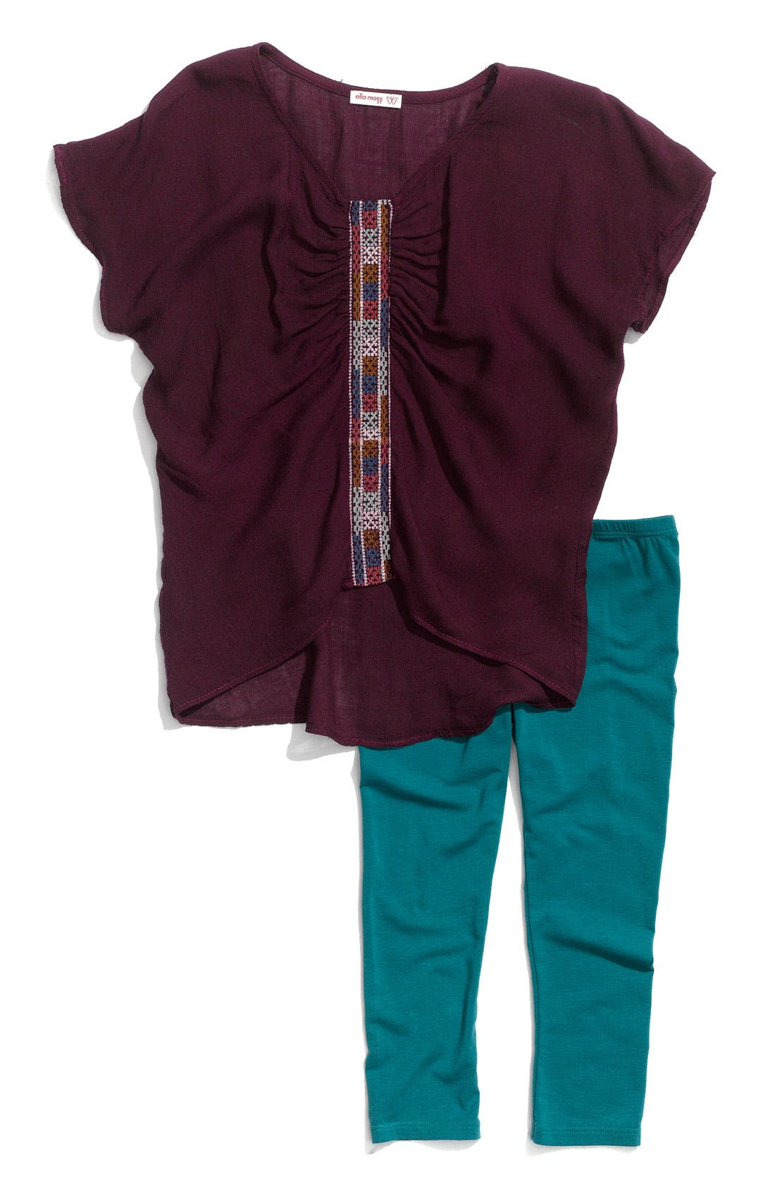 Alternate Image 1 Selected - Little Ella 'Surrey' Tunic & Leggings Set (Toddler)