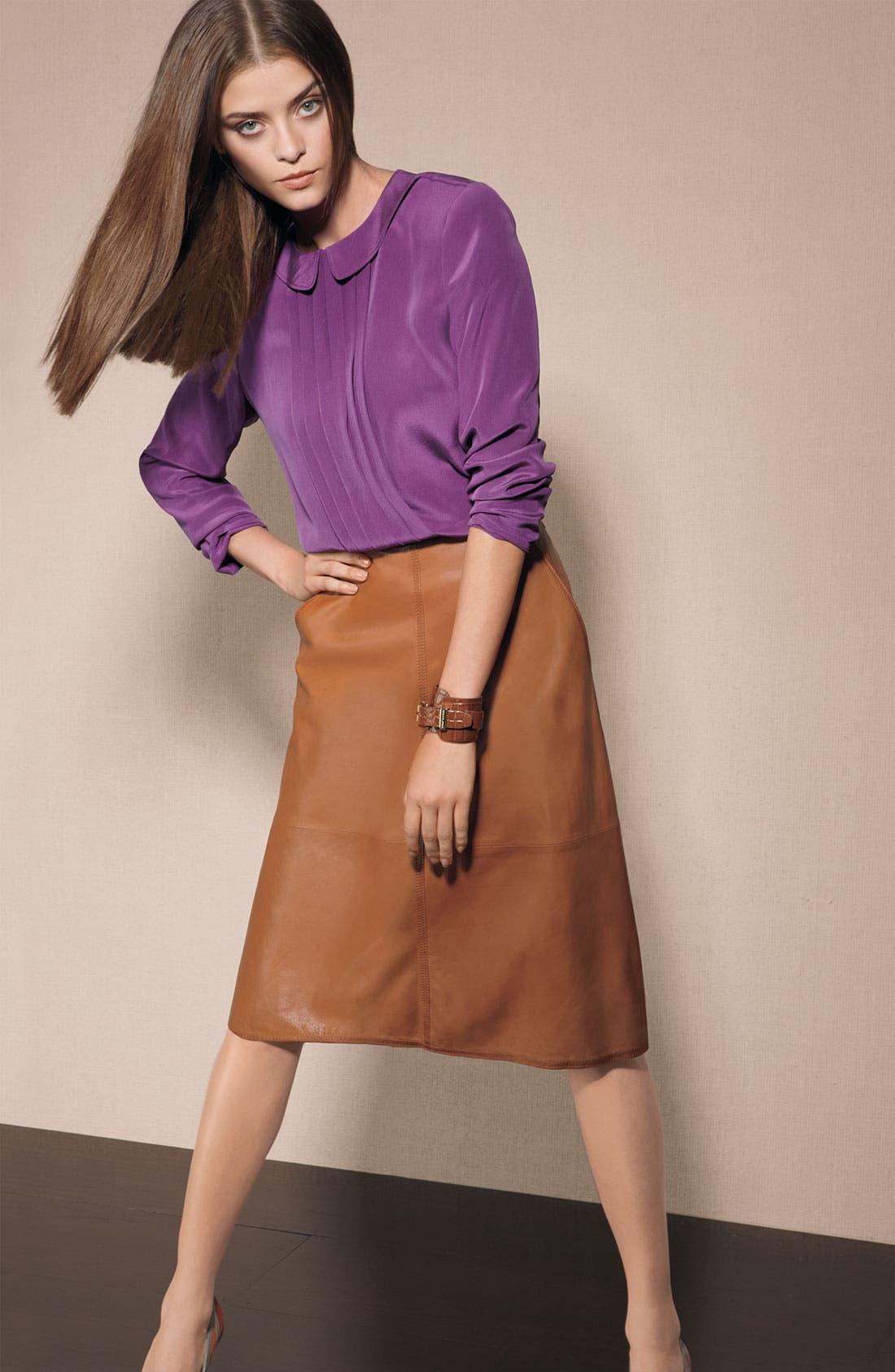 Alternate Image 3  - Leith Leather Midi Skirt