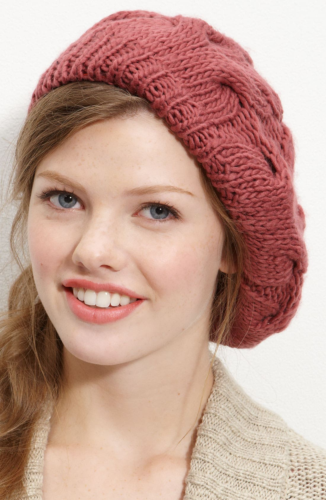 Alternate Image 1 Selected - Rubbish® Cabled Beret