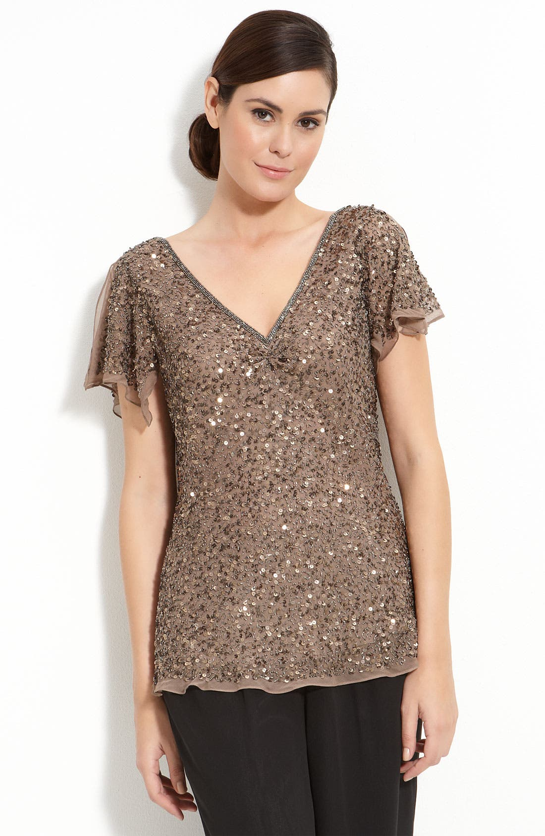 Main Image - Adrianna Papell 'Dazzling Winds' Sequin Top