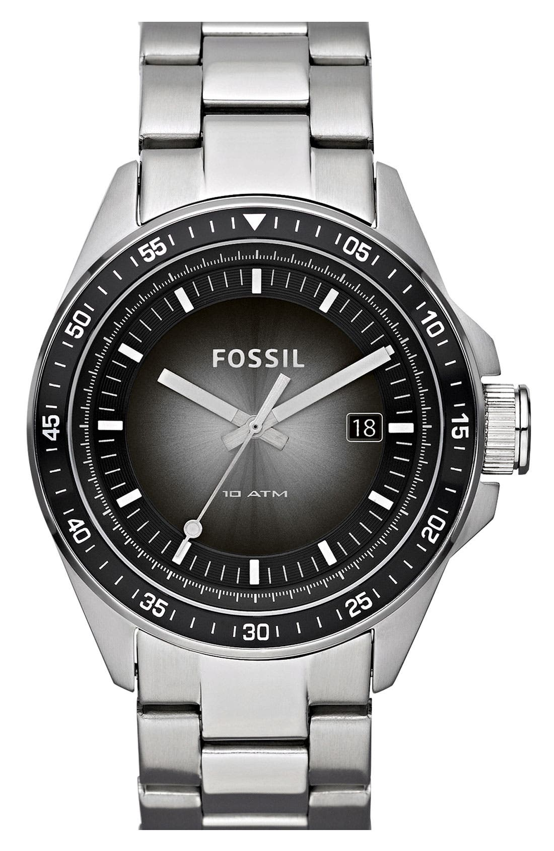 Main Image - Fossil 'Decker' Bracelet Watch, 44mm