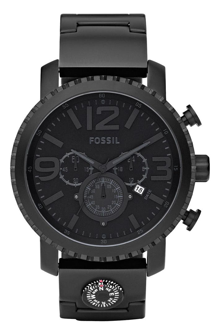 mens fossil watch compass | eBay