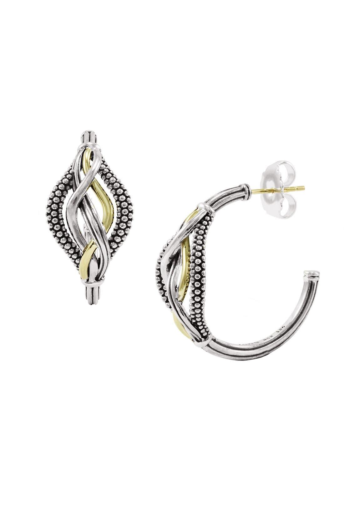 Alternate Image 1 Selected - LAGOS 'Unlaced' Hoop Earrings