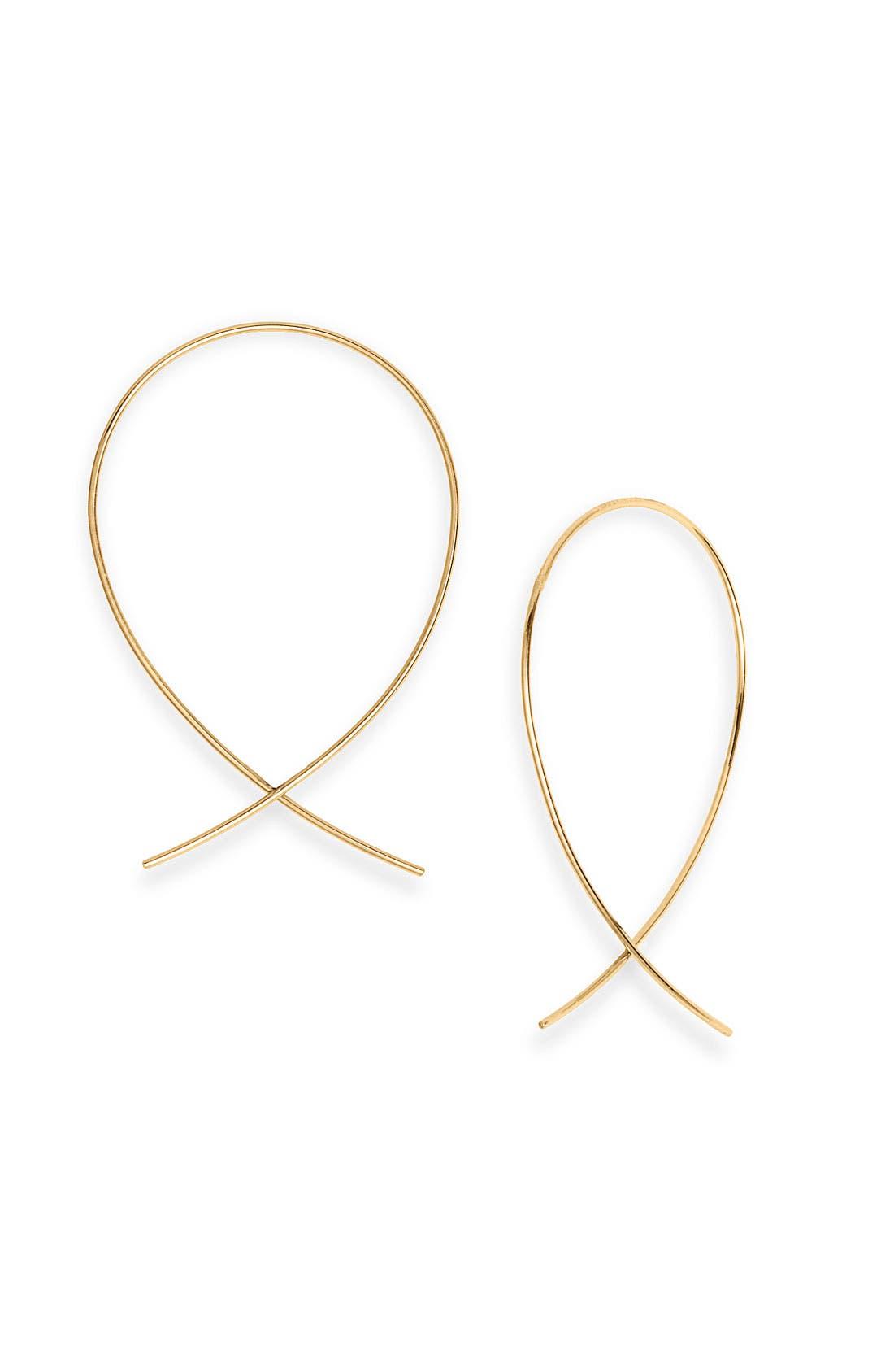 Alternate Image 1 Selected - Lana Jewelry 'Upside Down' Small Hoop Earrings