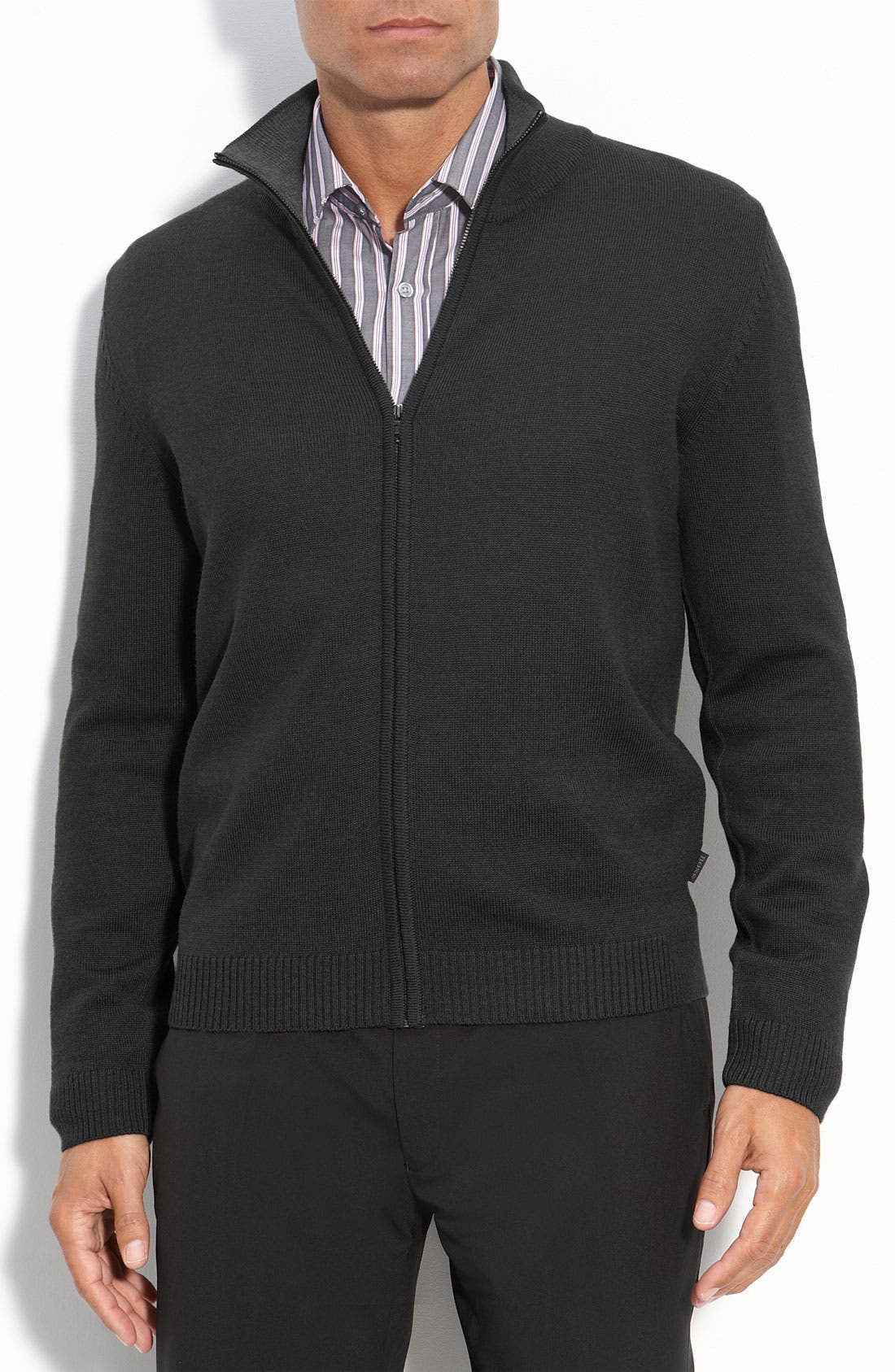 Alternate Image 1 Selected - BOSS Black Regular Full Zip Sweater