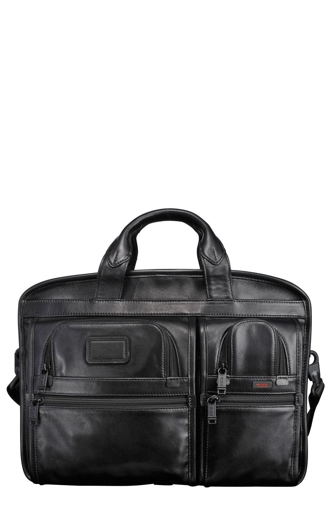 Alternate Image 1 Selected - Tumi 'Alpha T-Pass™' Medium Screen Laptop Slim Leather Briefcase