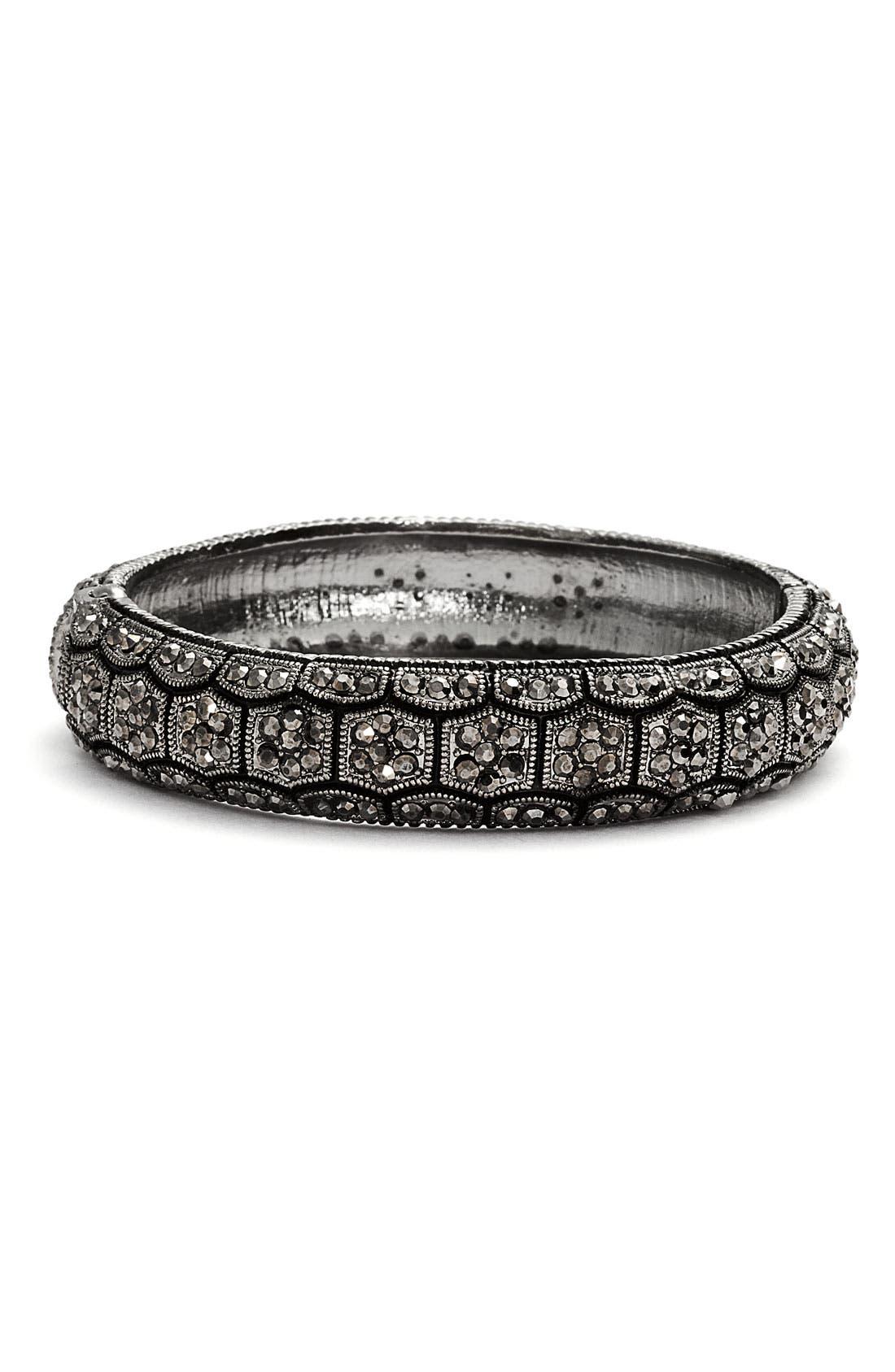 Main Image - Tasha Crystal Honeycomb Hinged Bracelet