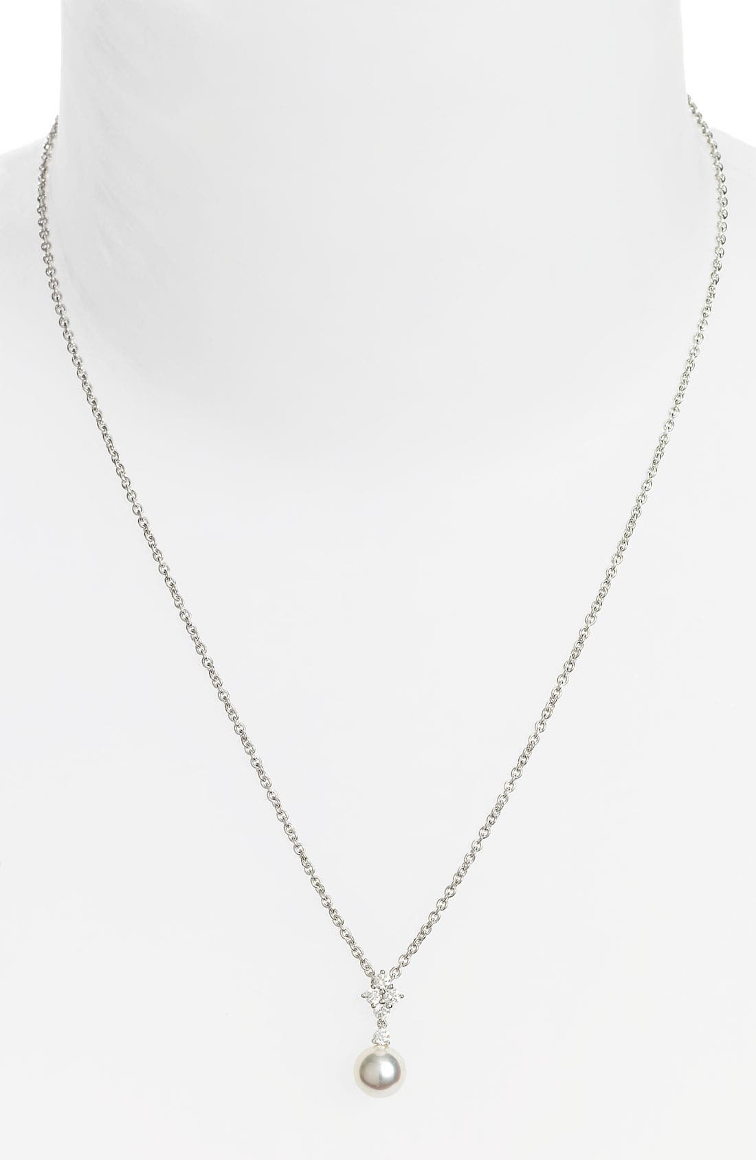 Alternate Image 1 Selected - Mikimoto 'Classic Elegance' Akoya Cultured Pearl & Diamond Necklace
