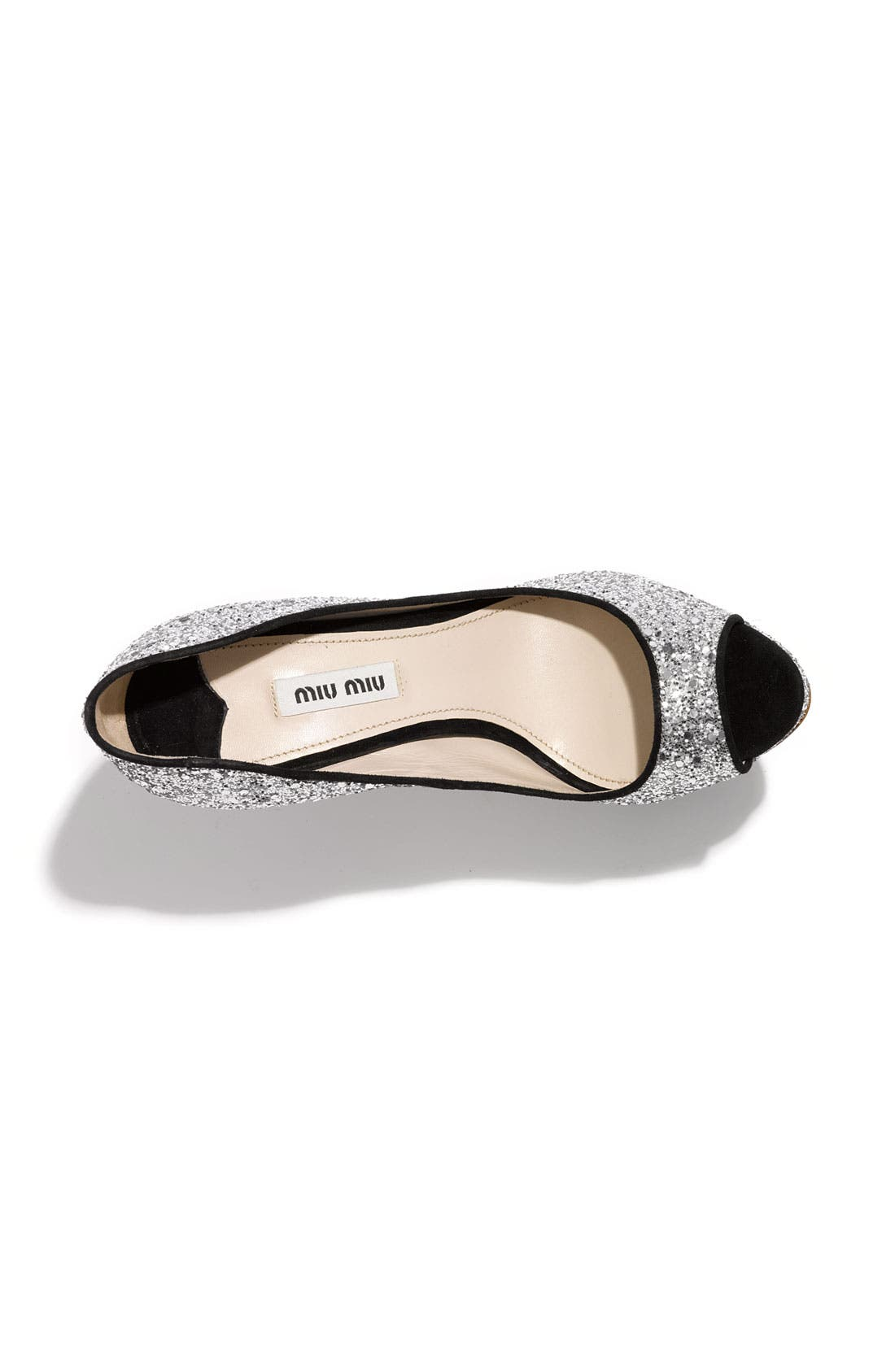 Alternate Image 3  - Miu Miu Glitter Open Toe Platform Pump