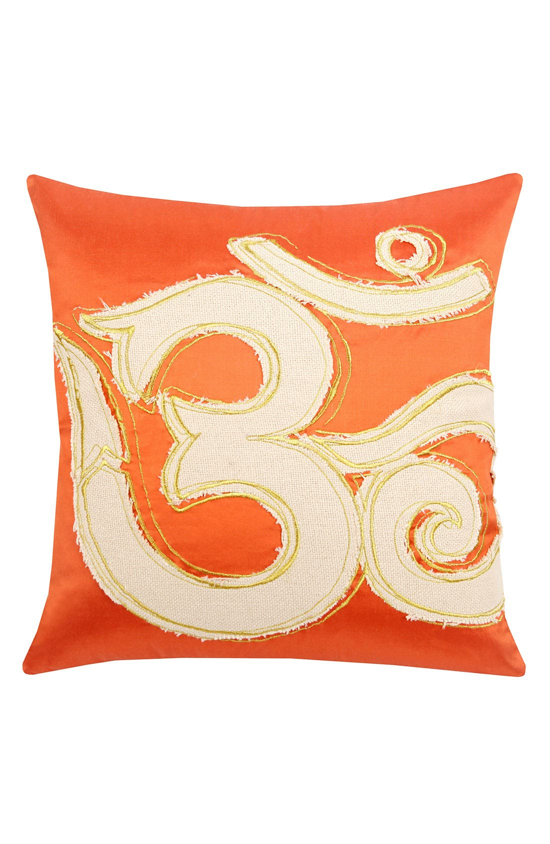 'Om' Coral Pillow,                         Main,                         color, Coral