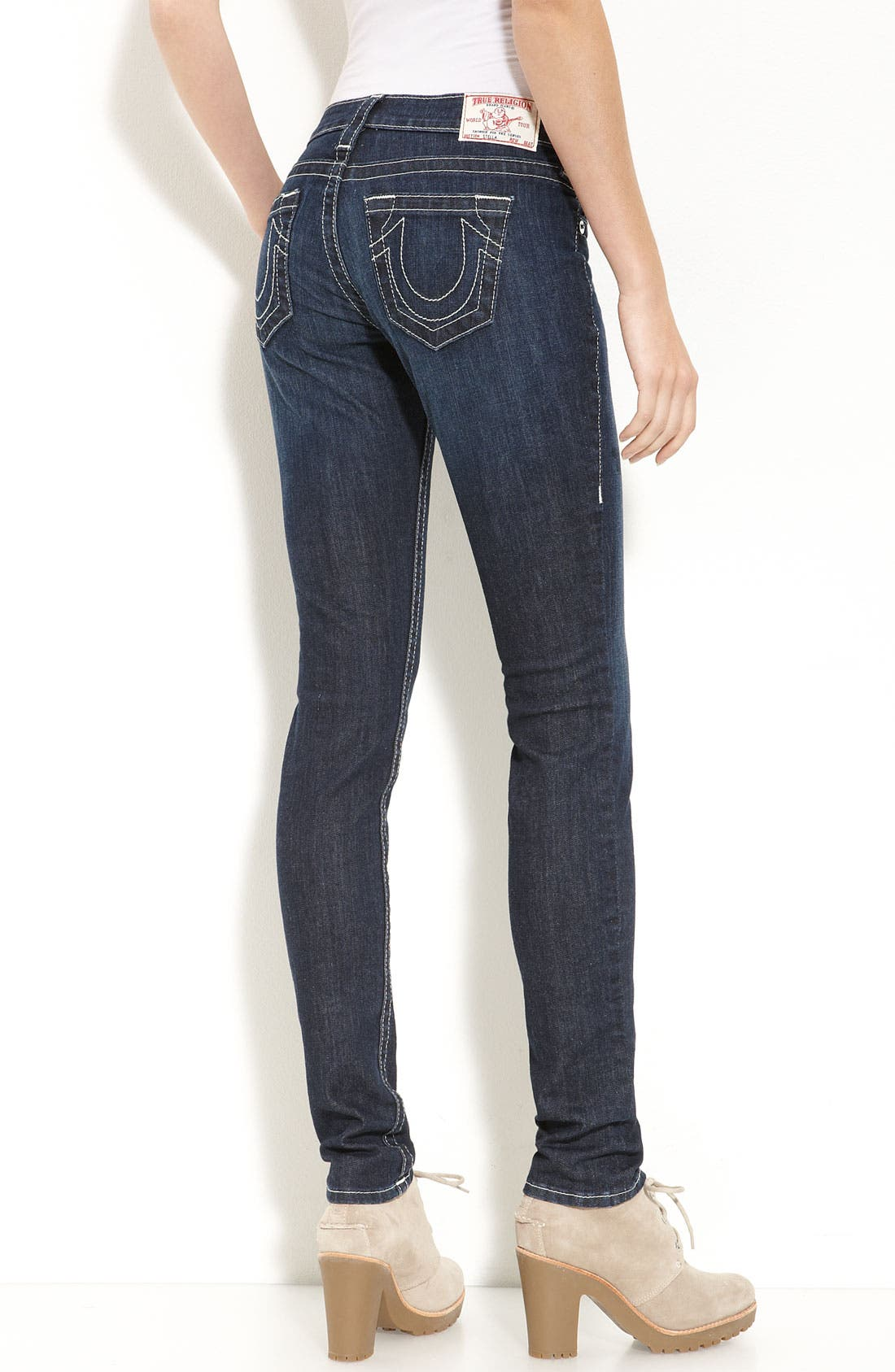 Alternate Image 2  - True Religion Brand Jeans Skinny Jeans (Lonestar Wash)