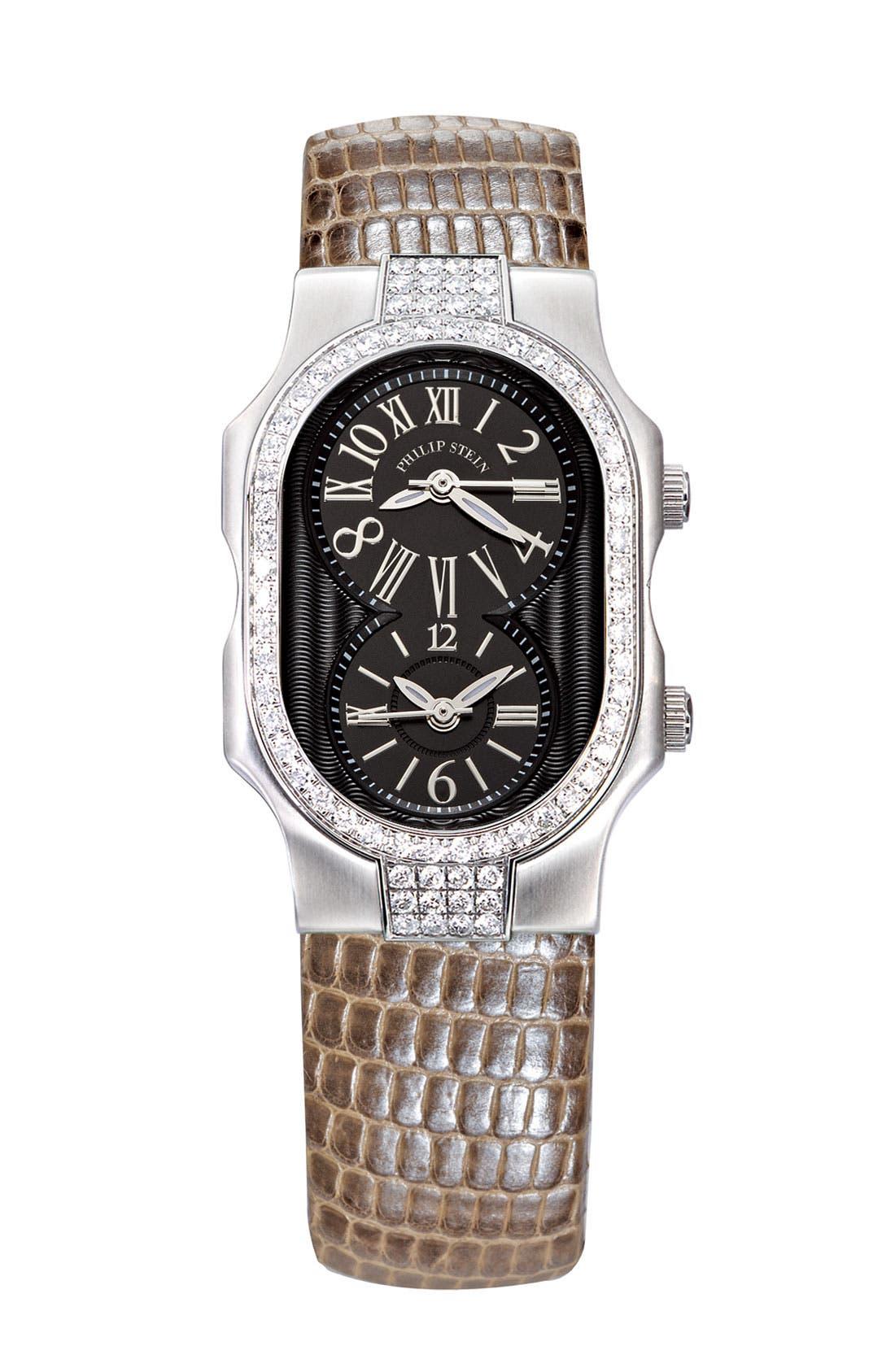 Alternate Image 3  - Philip Stein® 'Signature' Small Double Diamond Bezel Watch Case