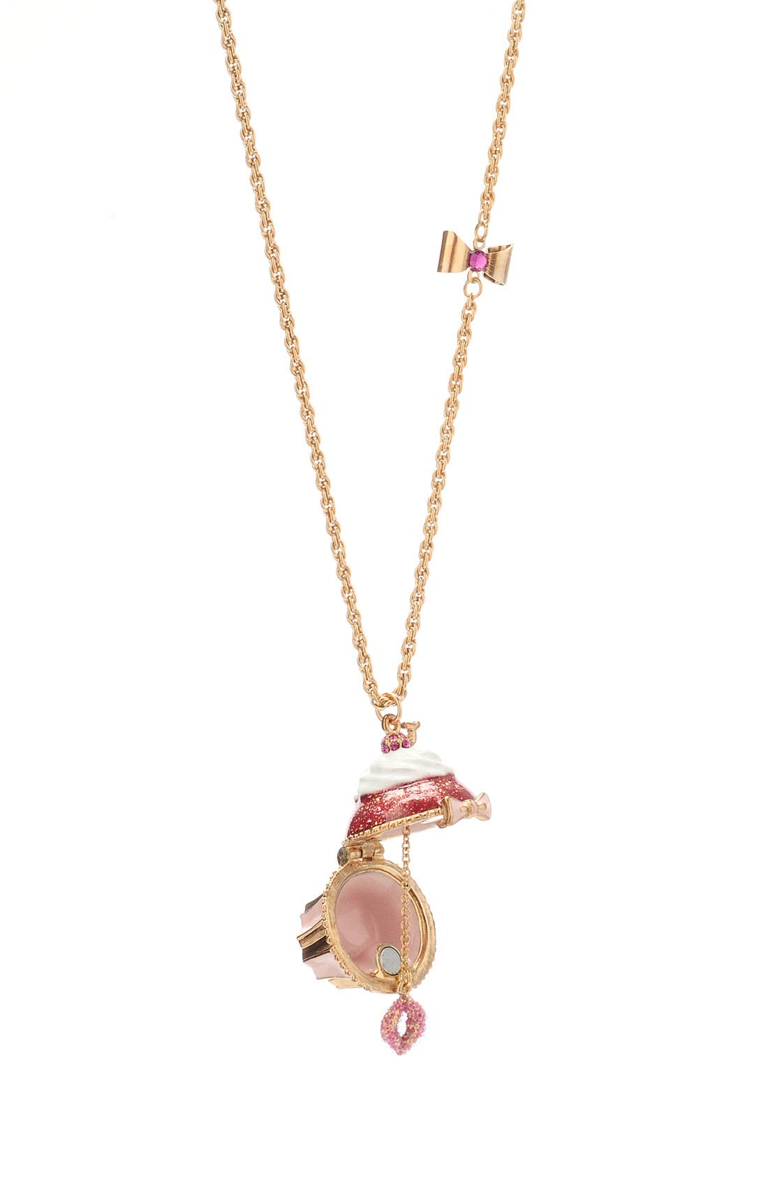Alternate Image 2  - Betsey Johnson 'Tzar' Cupcake Pendant Long Necklace