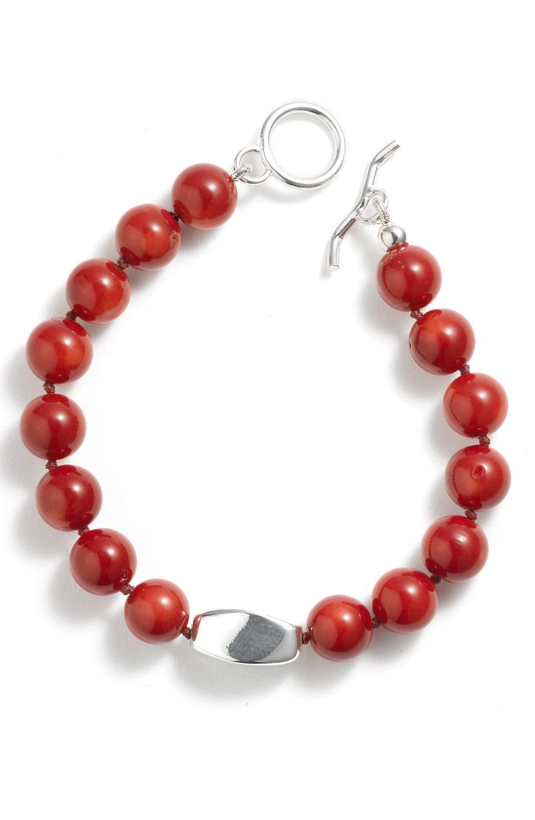 Alternate Image 1 Selected - Simon Sebbag Freshwater Pearl Toggle Bracelet
